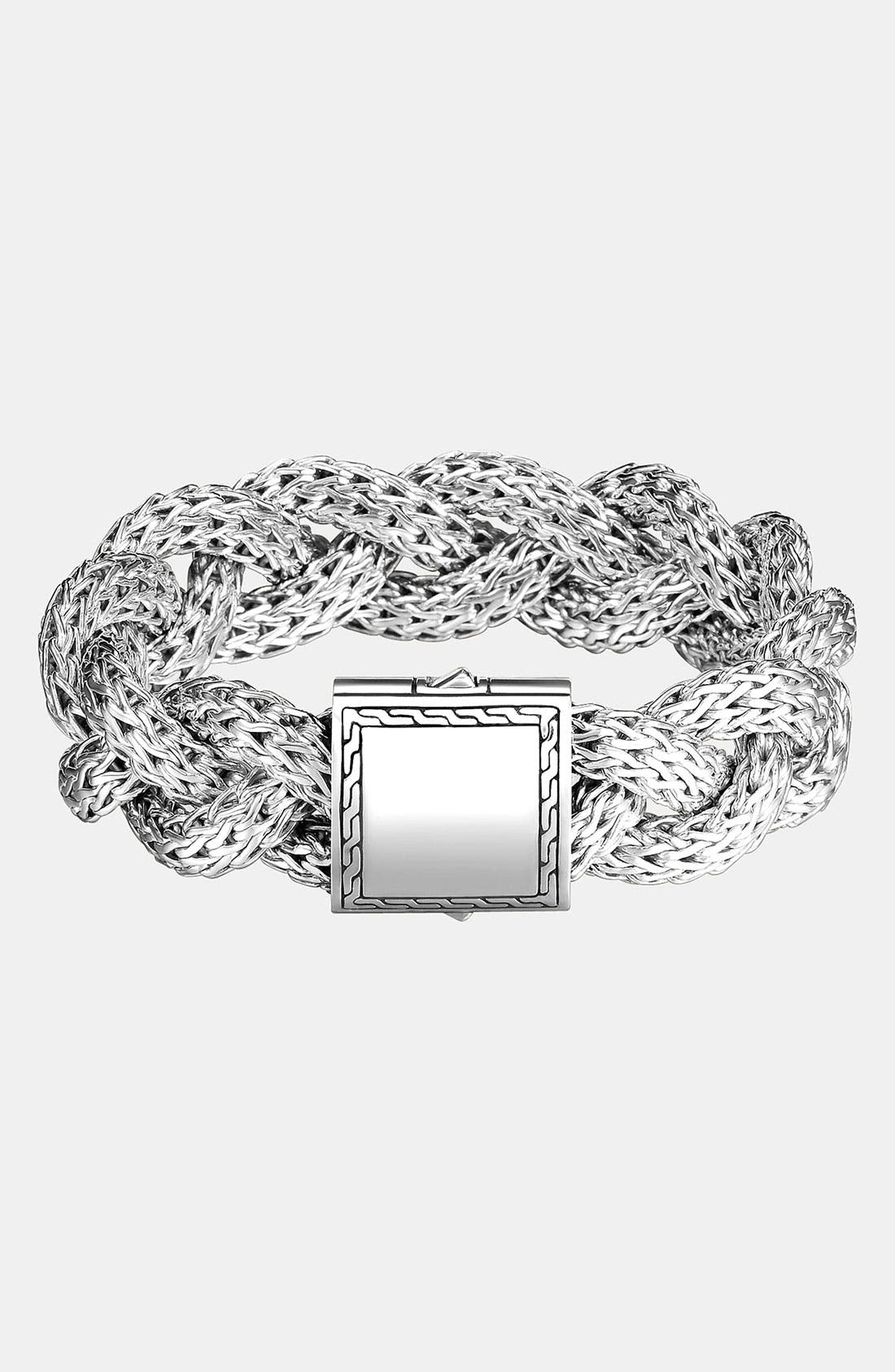 Alternate Image 1 Selected - John Hardy 'Classic Chain' Large Braided Bracelet