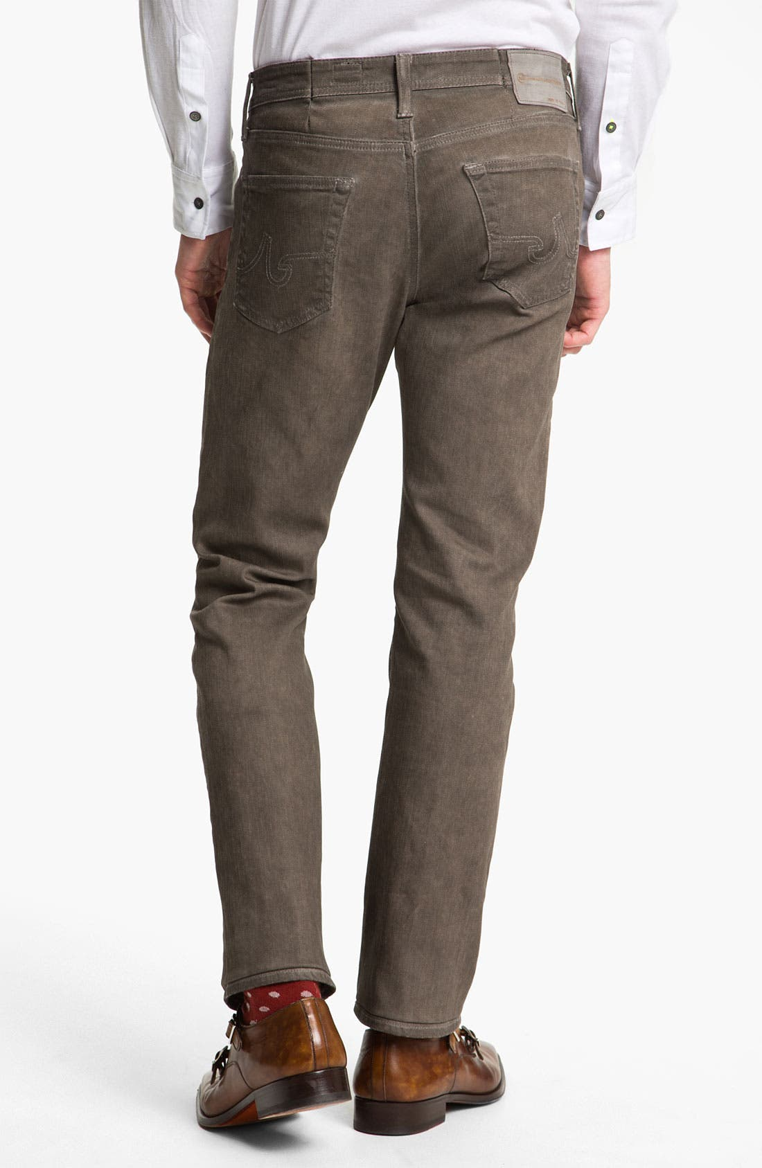 Alternate Image 2  - AG Jeans 'Matchbox' Slim Straight Leg Jeans (Brown Wave)
