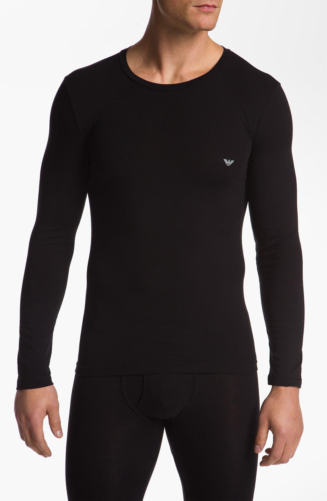 Alternate Image 1 Selected - Emporio Armani 'Basic' Long Sleeve Stretch T-Shirt
