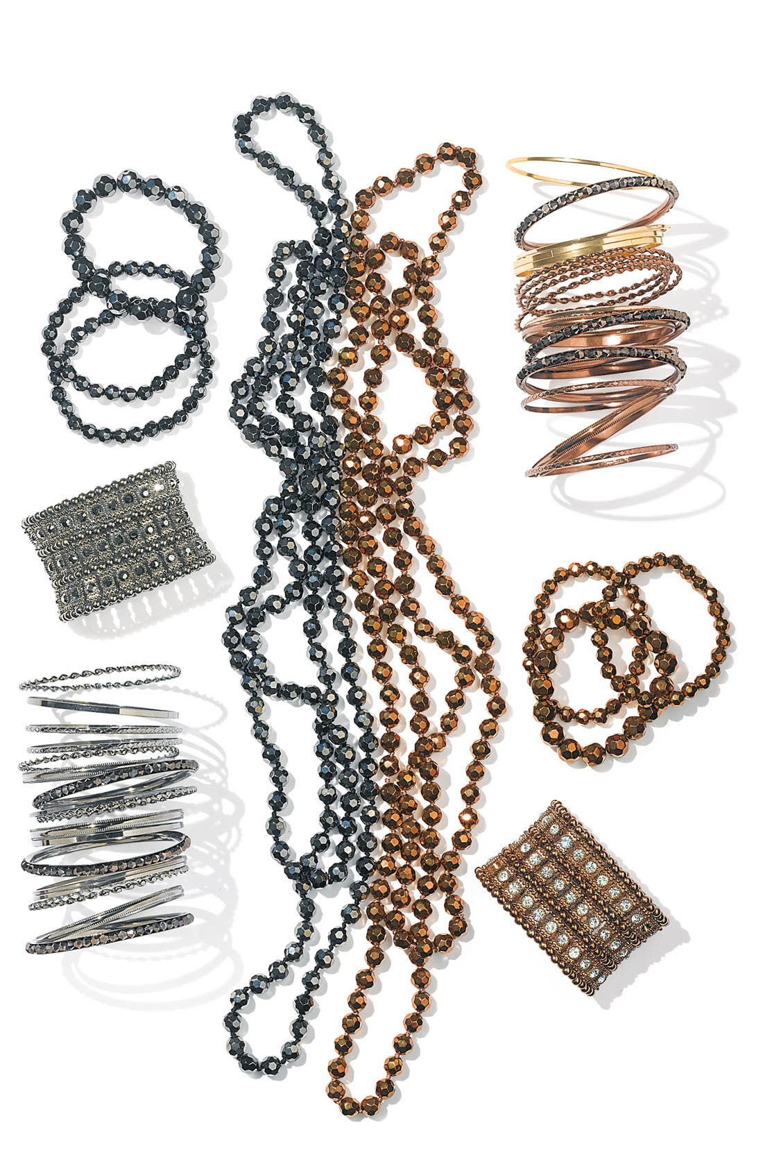 Alternate Image 2  - Nordstrom Metallic Bead Extra Long Necklace