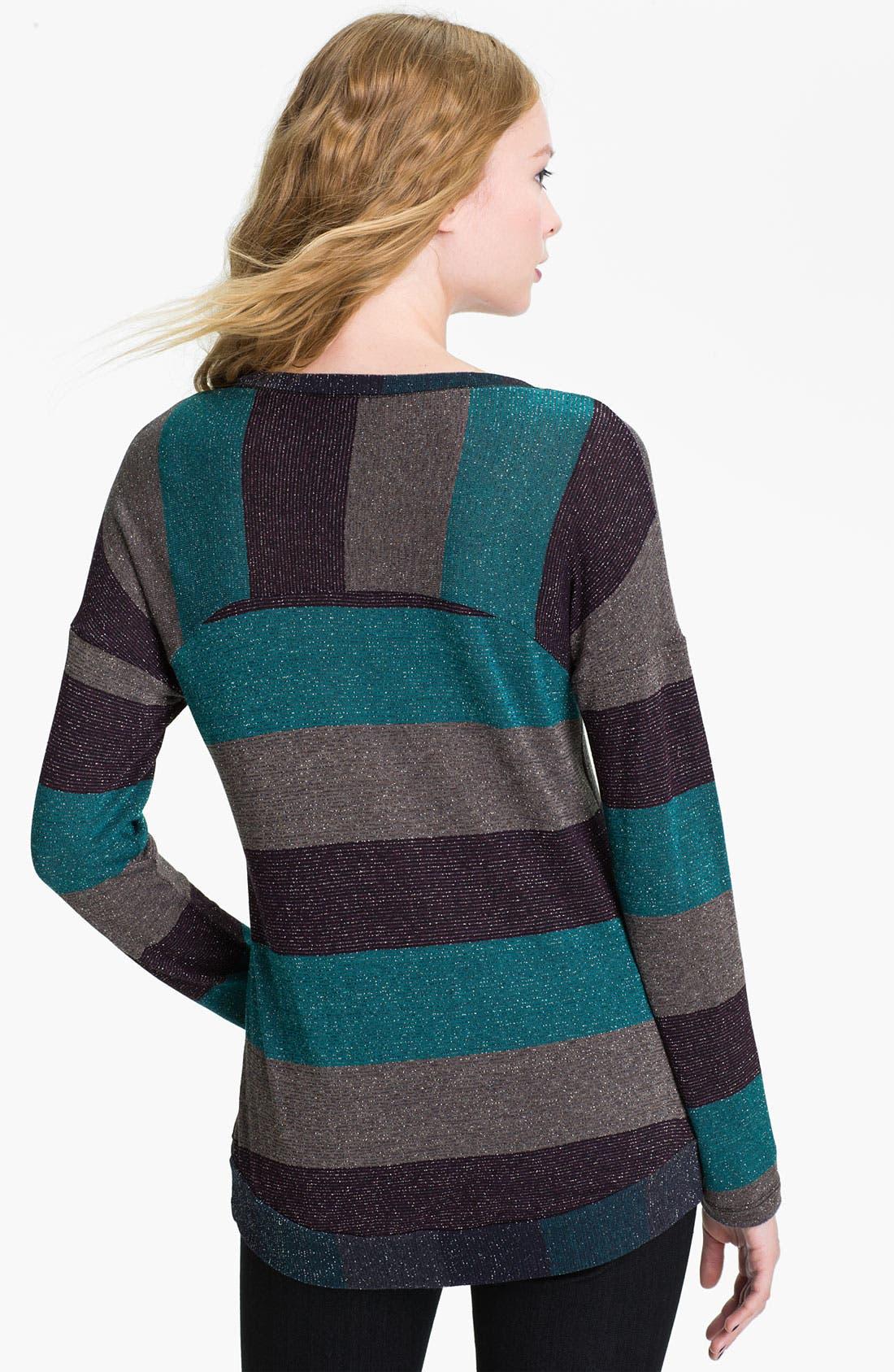 Alternate Image 2  - Splendid Metallic Stripe Top