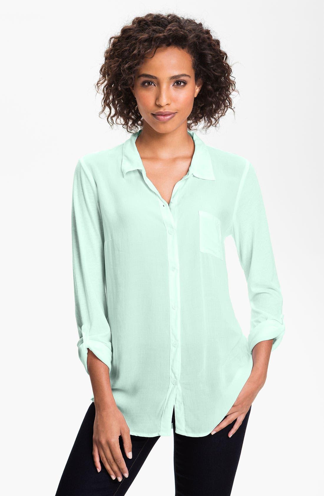Main Image - Splendid Mixed Media Shirt