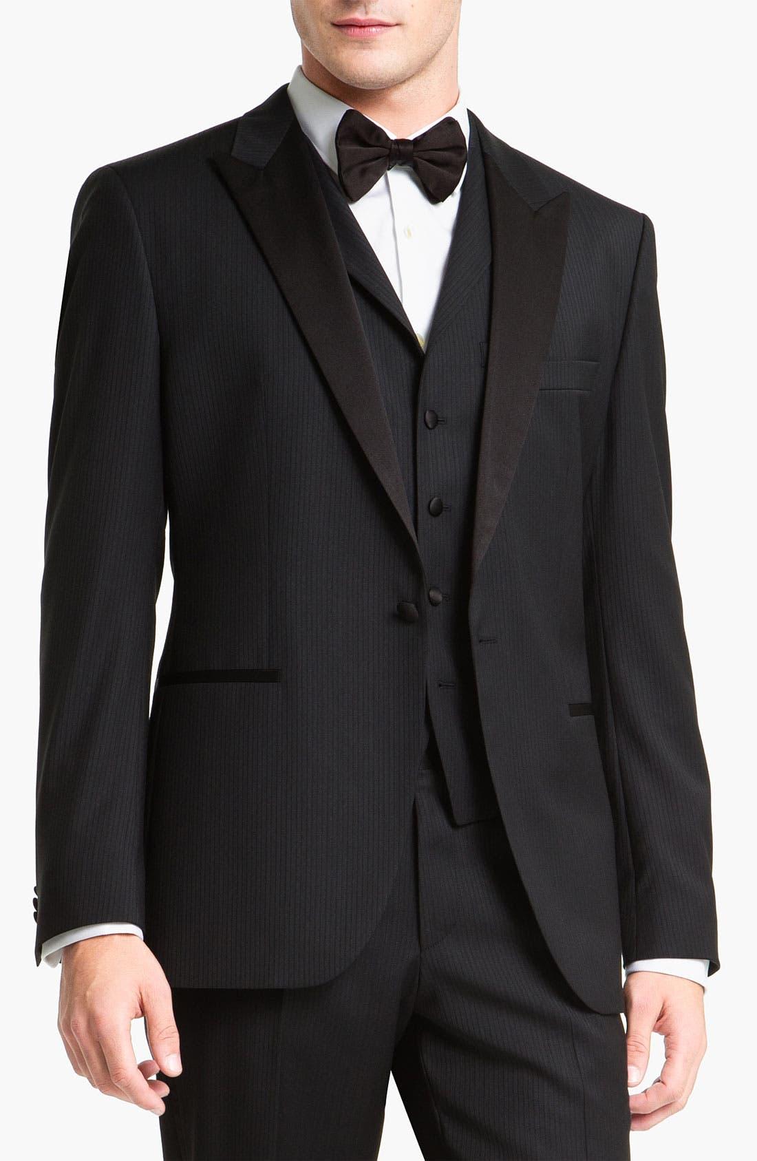 Alternate Image 1 Selected - BOSS Black 'The Joy/Gala' Trim Fit Stripe Tuxedo