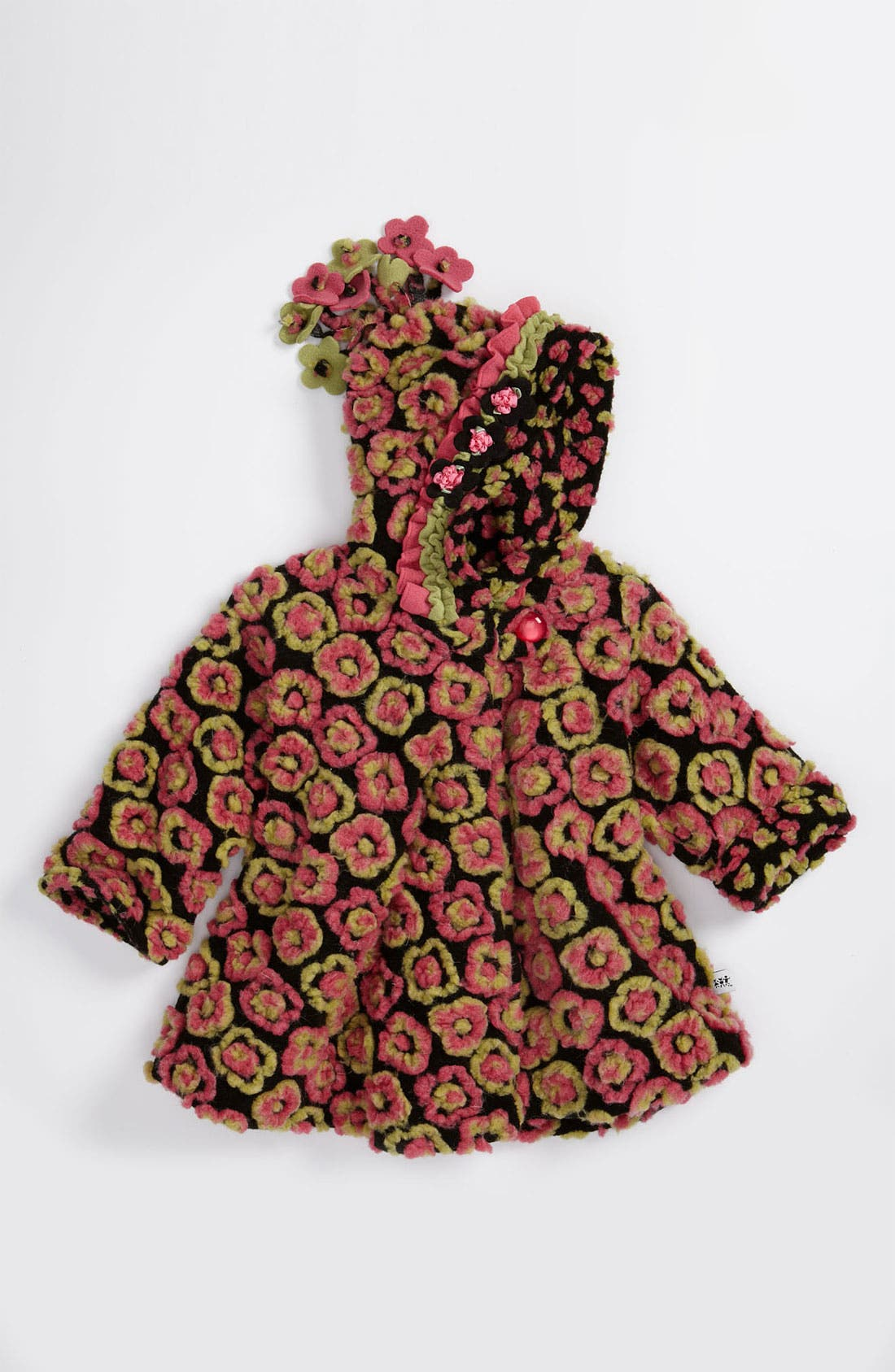 Main Image - Corky & Company 'Anne' Flower Jacket (Infant)