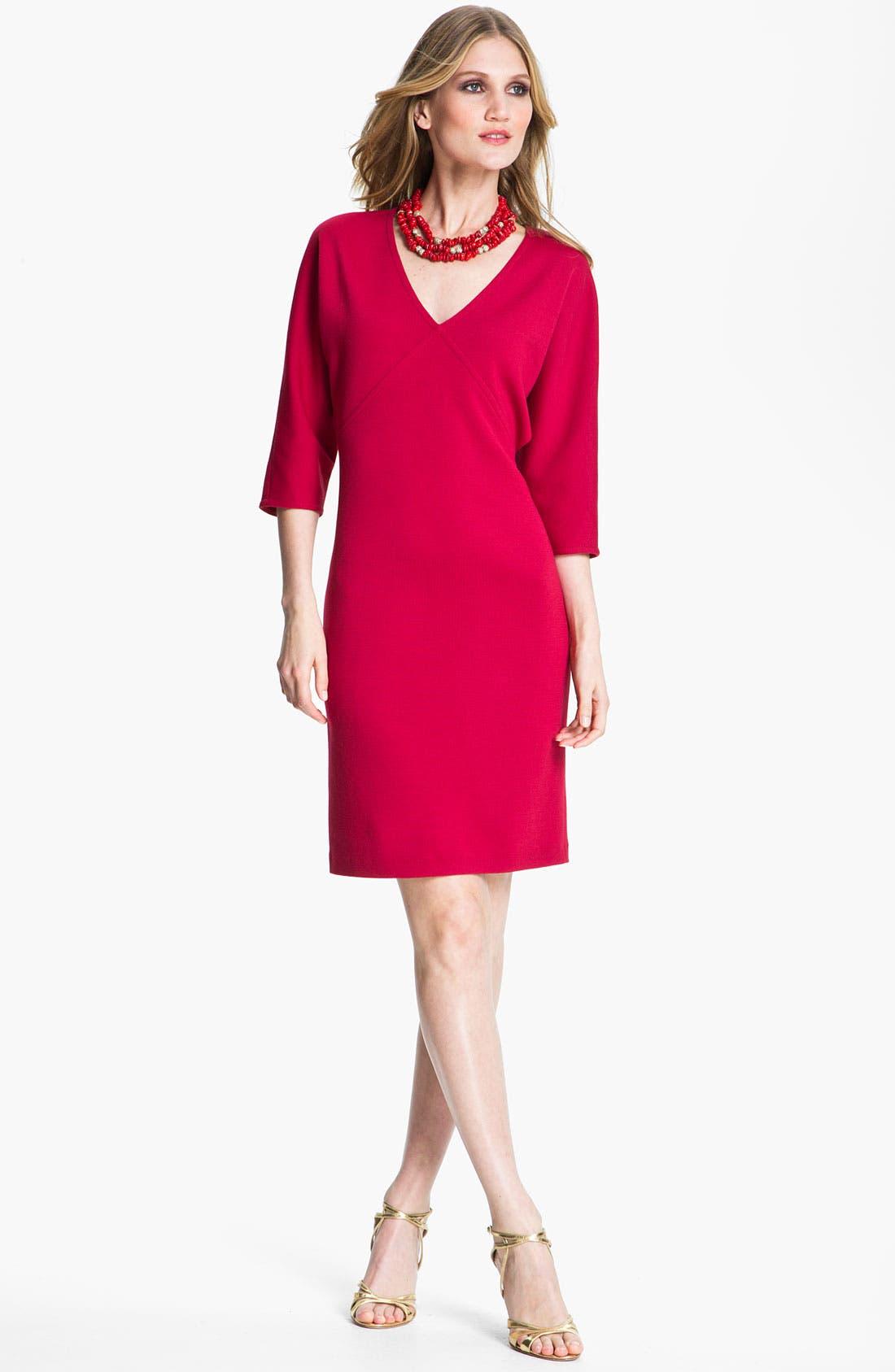 Alternate Image 1 Selected - St. John Collection V-Neck Milano Knit Dress