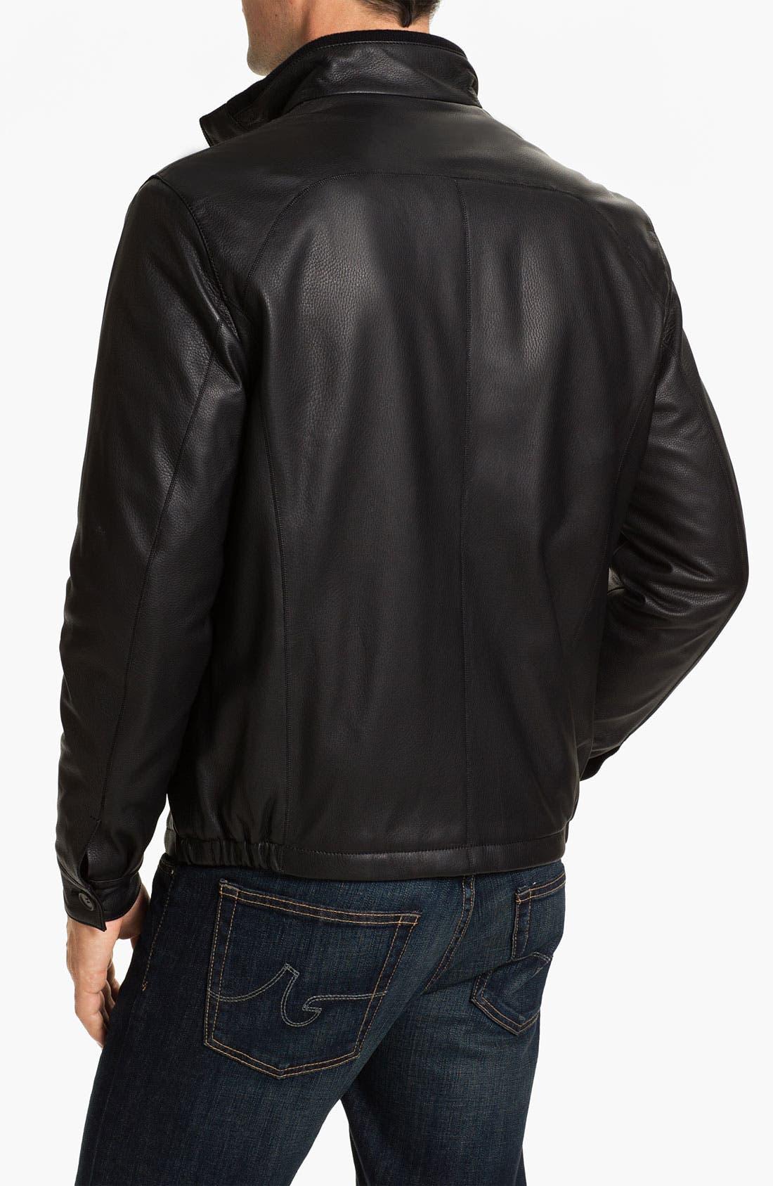 Alternate Image 2  - Gian Franco Pagini Leather Jacket