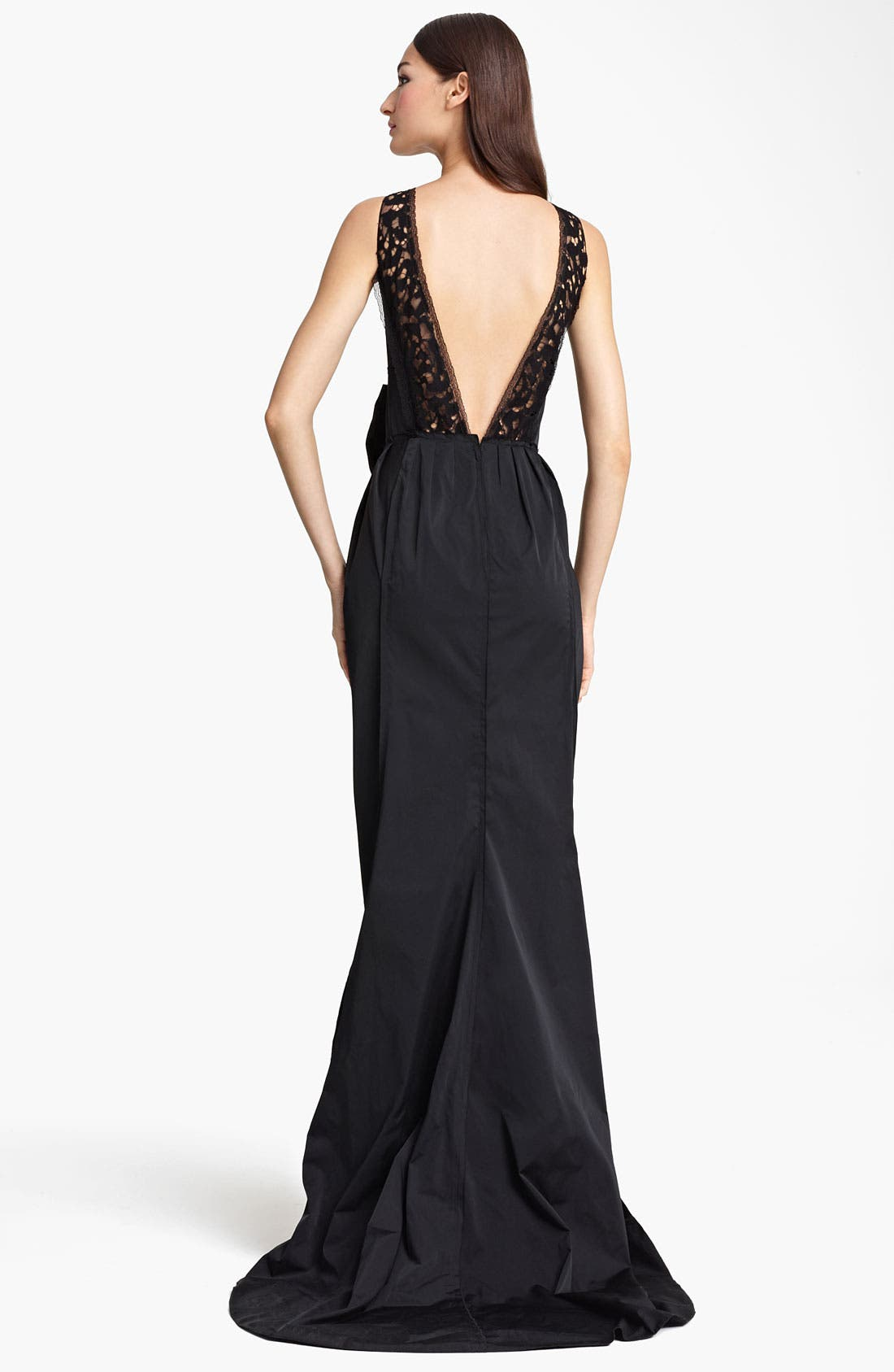 Alternate Image 2  - Nina Ricci Bow Waist Sleeveless Gown