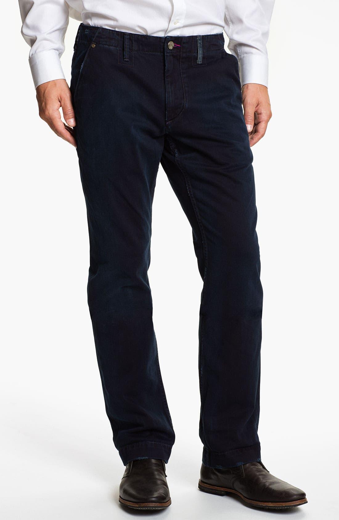 Alternate Image 1 Selected - Robert Graham Jeans 'Blue Tar' Classic Fit Straight Leg Chinos
