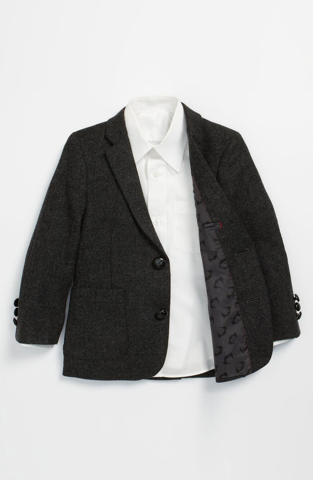 Alternate Image 1 Selected - Appaman 'Mini Professor' Tweed Blazer (Toddler)