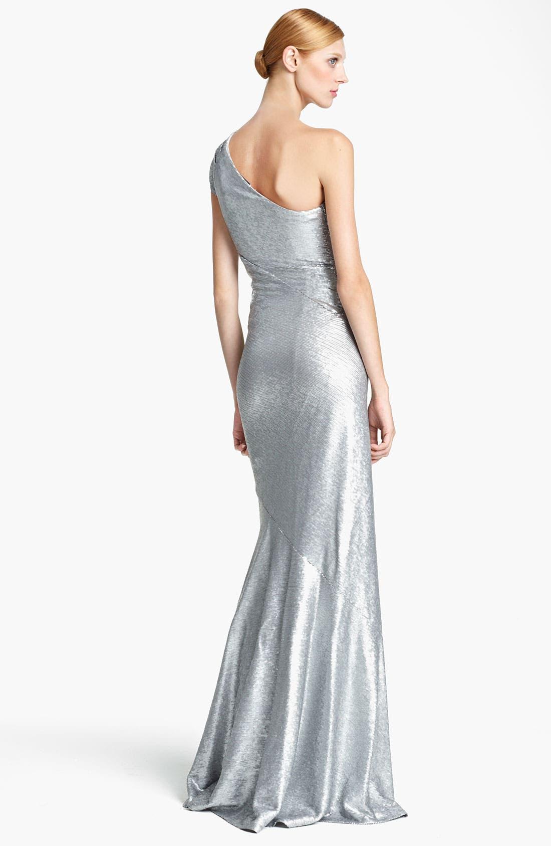 Alternate Image 2  - Donna Karan Collection One Shoulder Sequin Gown