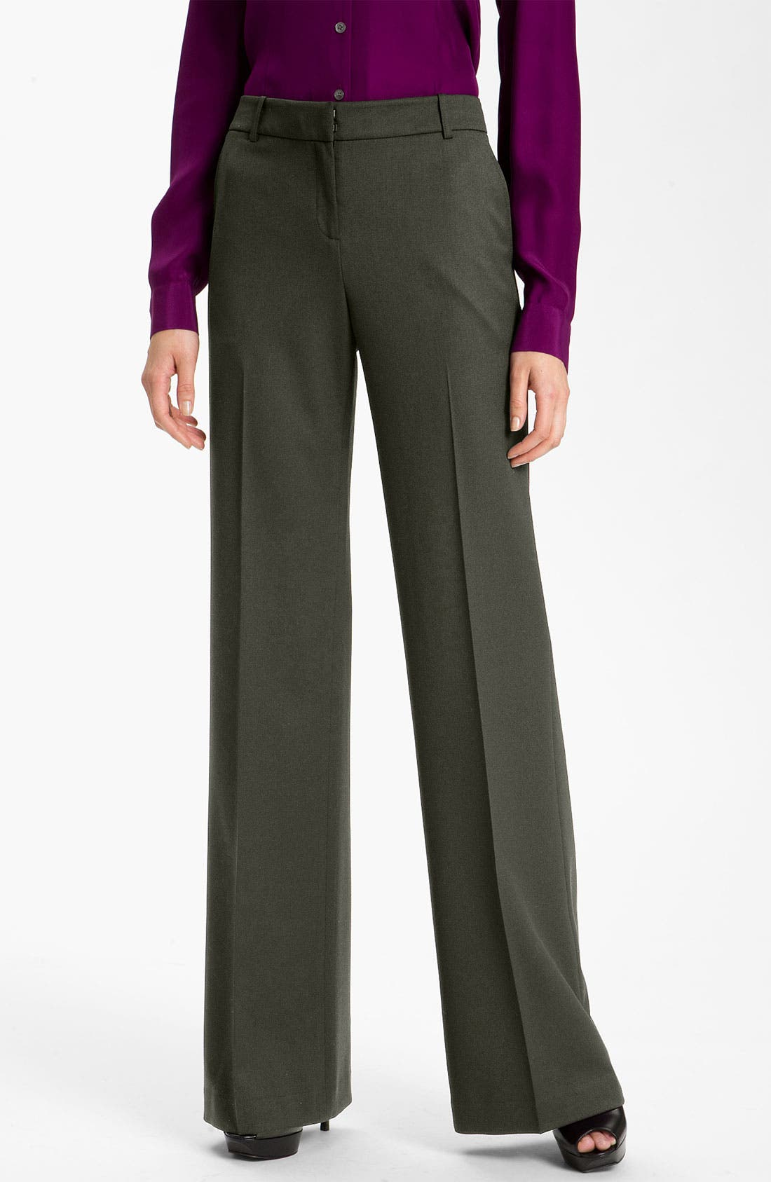 Main Image - Lafayette 148 New York Stretch Wool Pants (Petite)