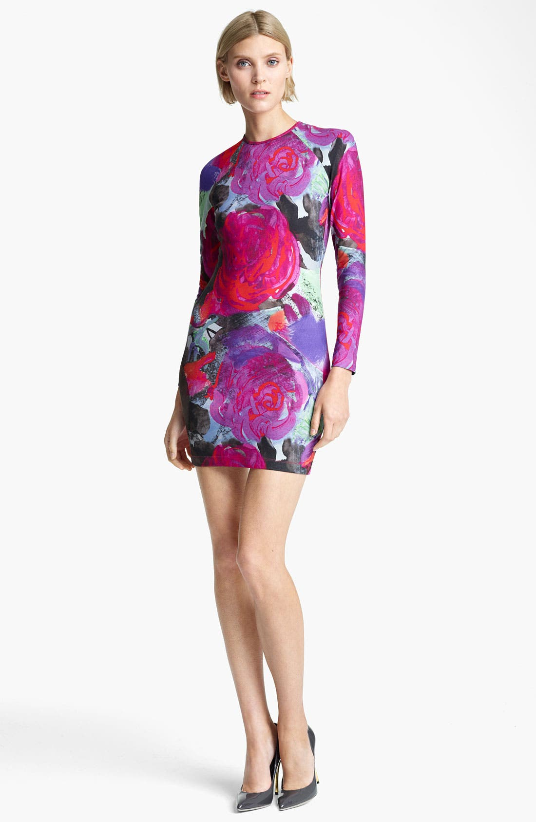 Alternate Image 1 Selected - Christopher Kane Floral Print Jersey Dress