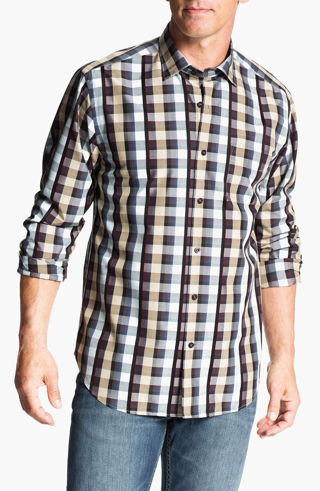 Main Image - Tommy Bahama 'Esprit de Coeur' Silk Sport Shirt