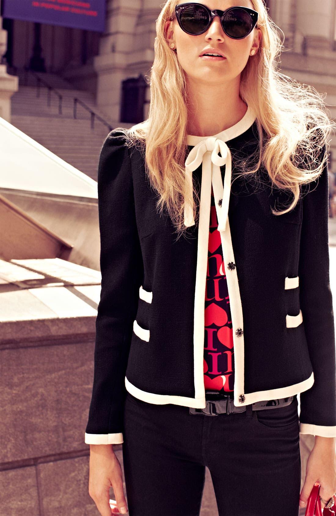 Alternate Image 6  - Milly 'Marizia' Bow Detail Jacket