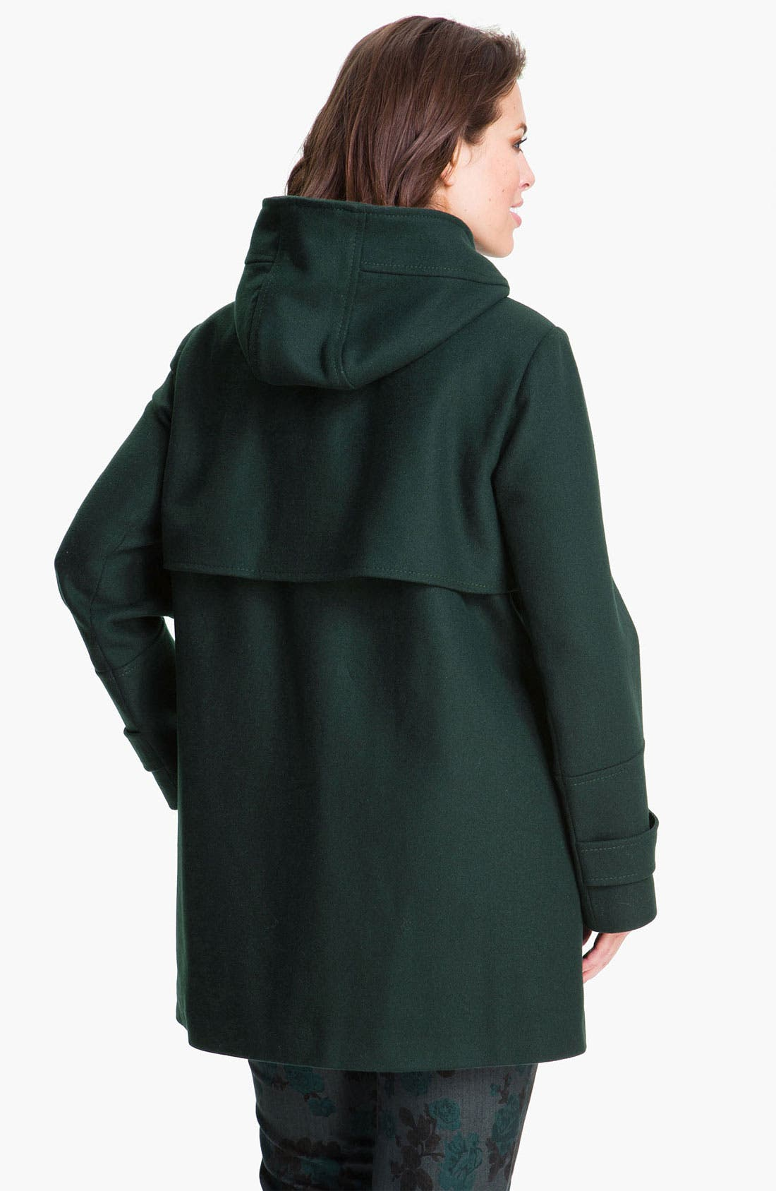 Alternate Image 2  - Vince Camuto Wool Blend Jacket with Detachable Hood (Plus)