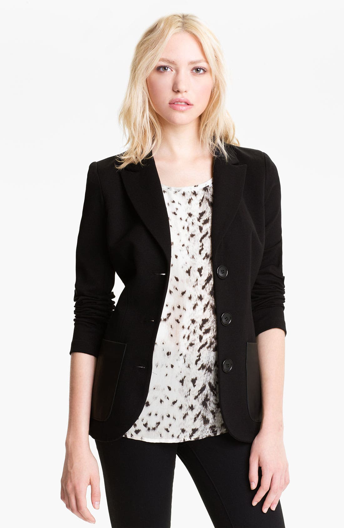 Alternate Image 1 Selected - Bailey 44 Leather Pocket Blazer