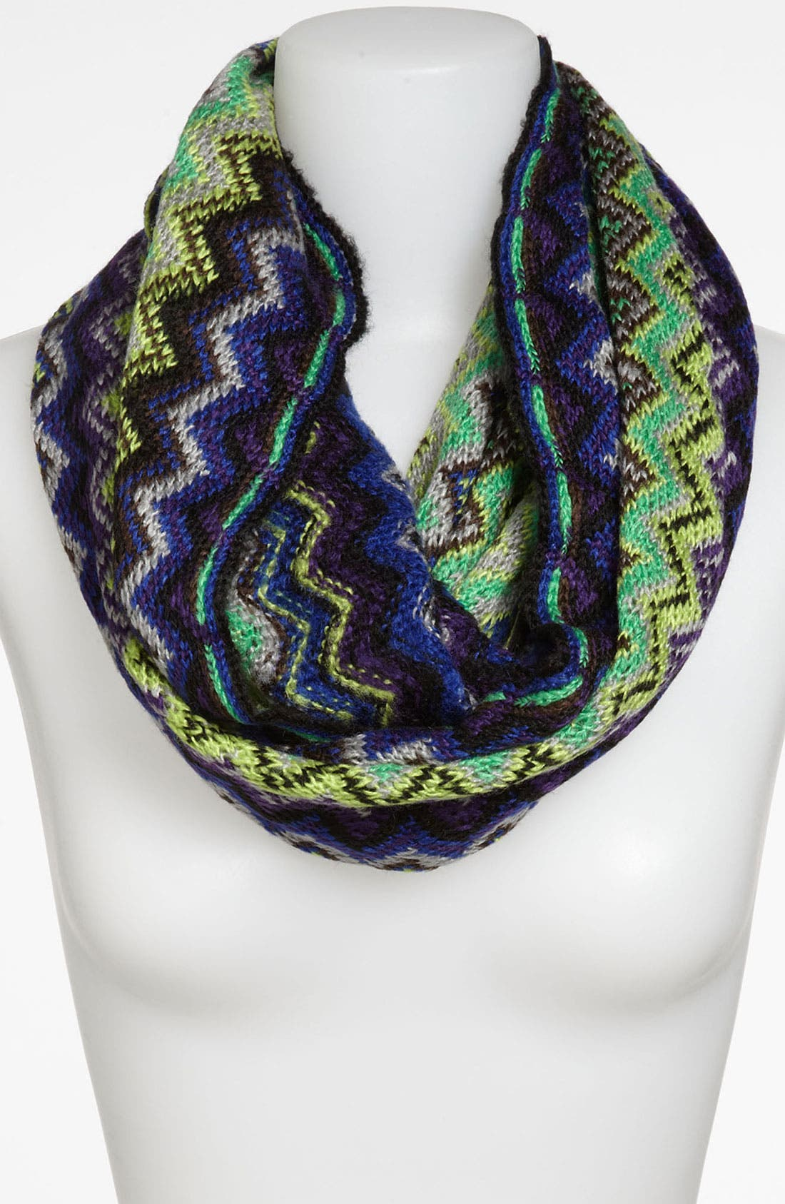 Alternate Image 1 Selected - David & Young Zigzag Knit Infinity Scarf