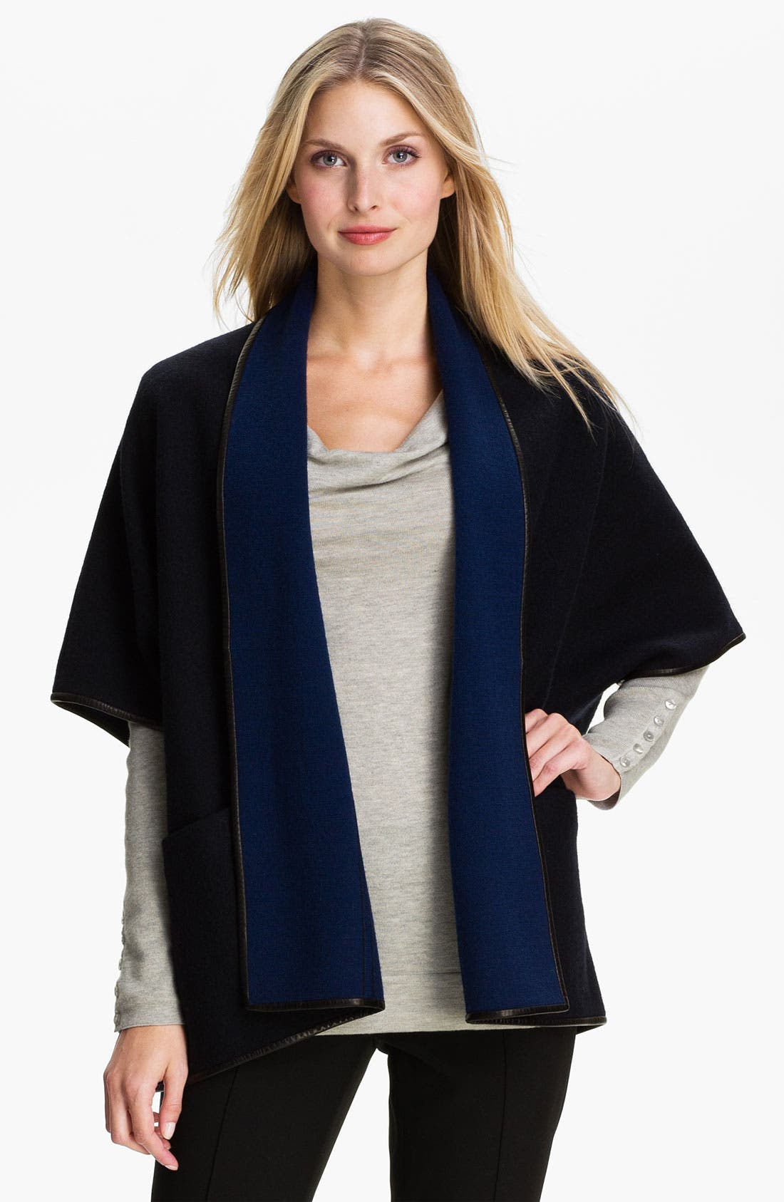 Alternate Image 1 Selected - Classiques Entier® Boiled Wool Cardigan