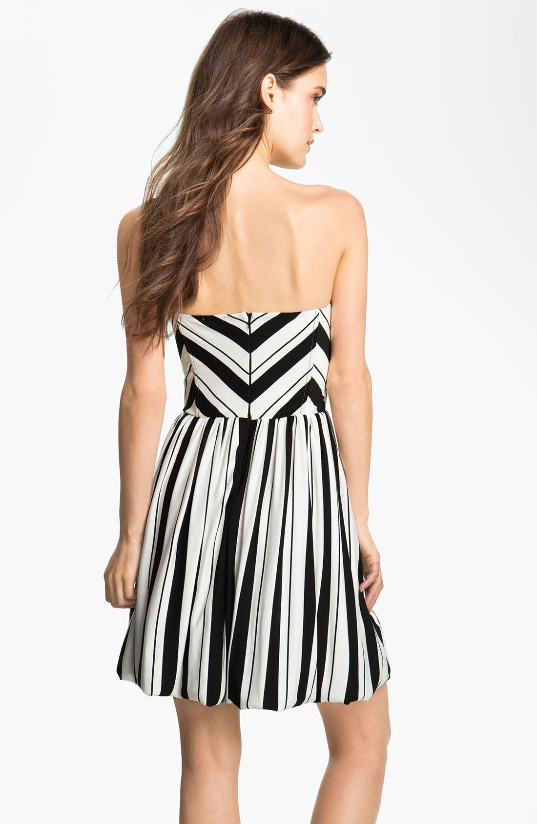 Alternate Image 2  - Ella Moss Stripe Strapless Dress