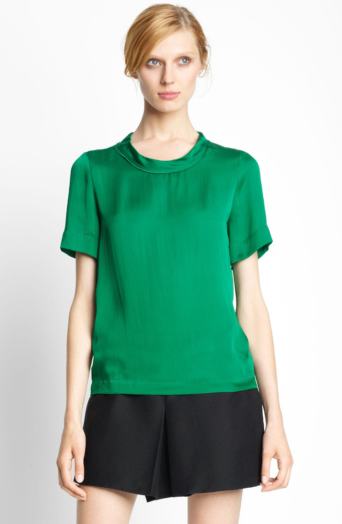 Main Image - Lanvin Feather Silk Blouse