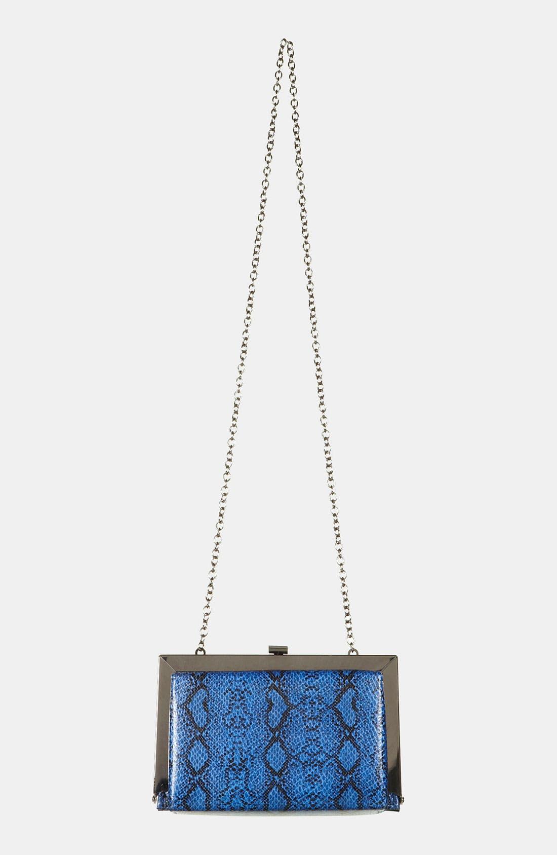 Alternate Image 2  - Topshop Snake Embossed Frame Shoulder Bag