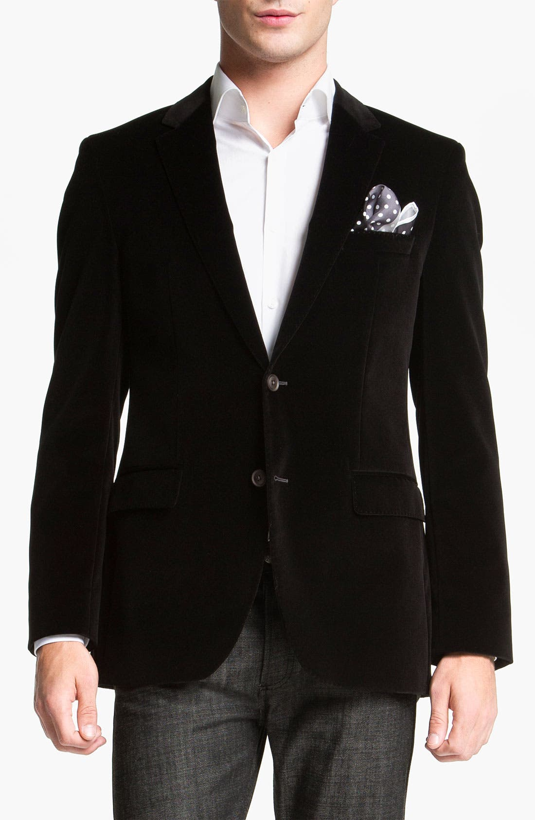 Alternate Image 1 Selected - BOSS Black 'Keys' Velvet Blazer