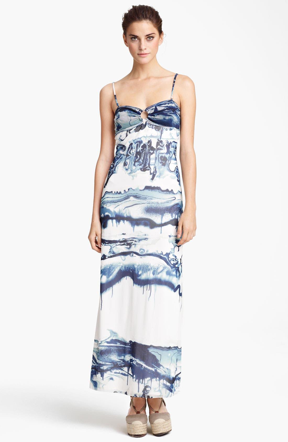 Main Image - Jean Paul Gaultier Fuzzi Graffiti Print Tulle Maxi Dress