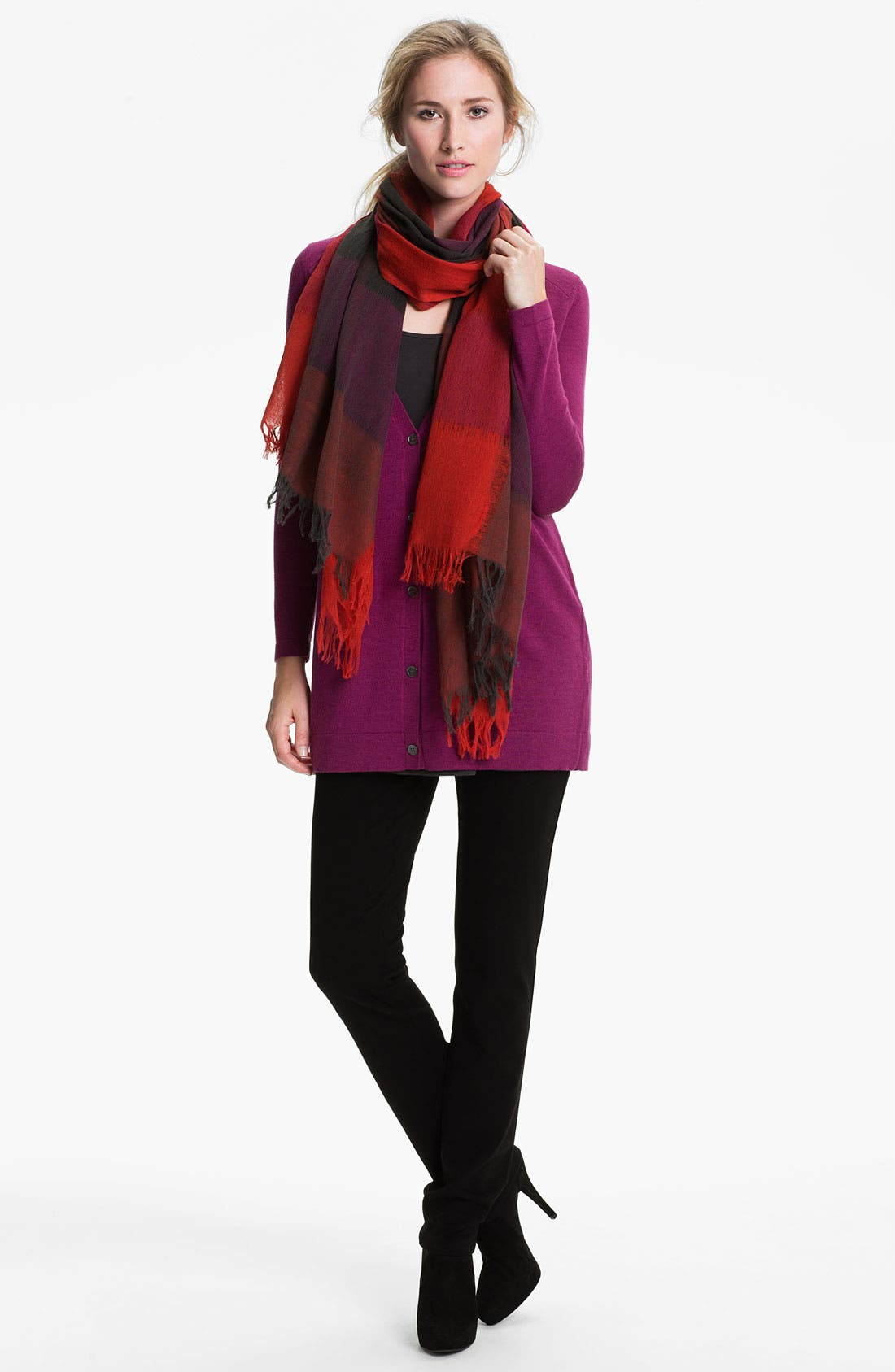 Alternate Image 2  - Eileen Fisher Fringed Wool Scarf