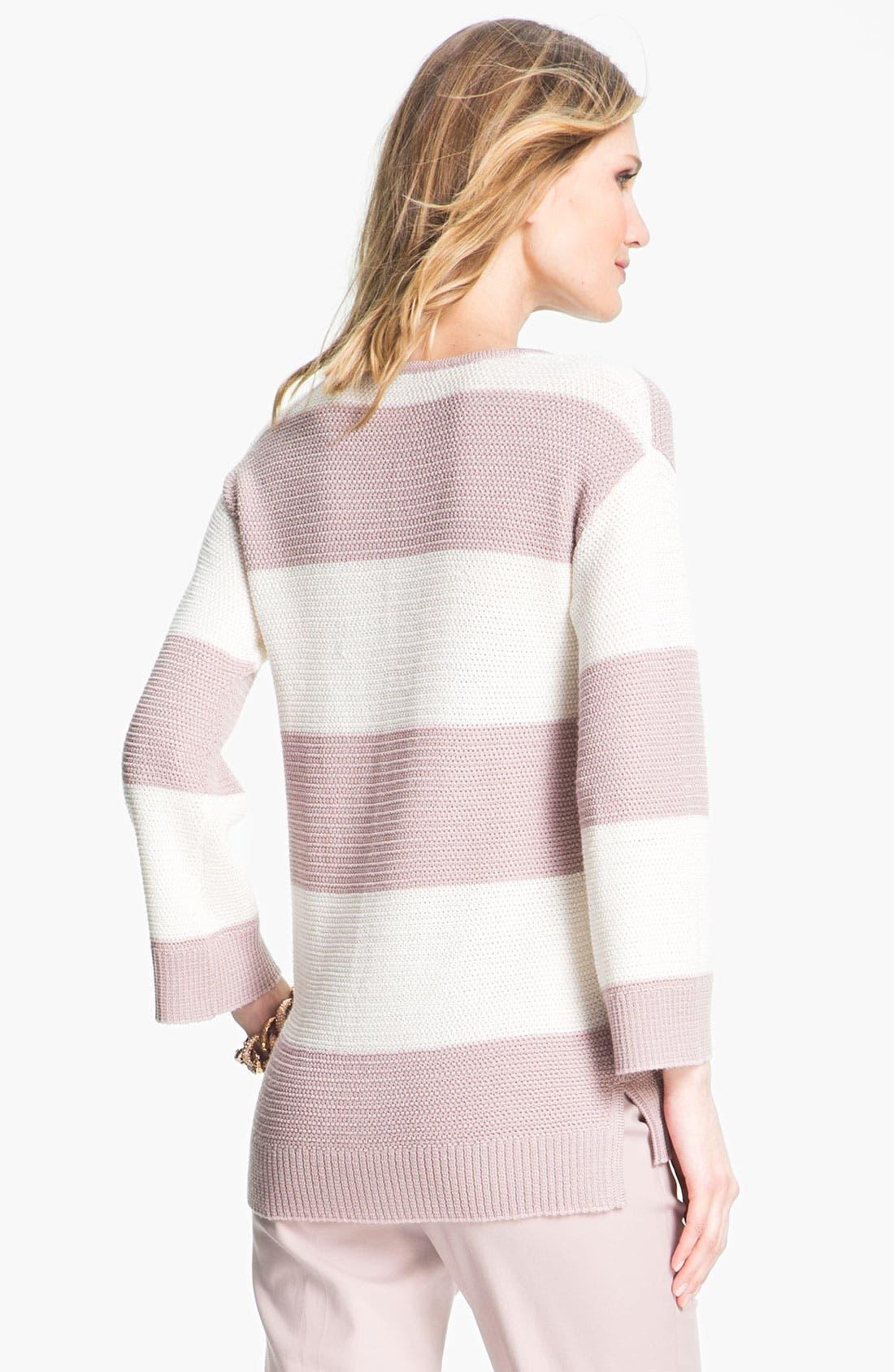Alternate Image 3  - St. John Yellow Label Stripe Ottoman Knit Sweater