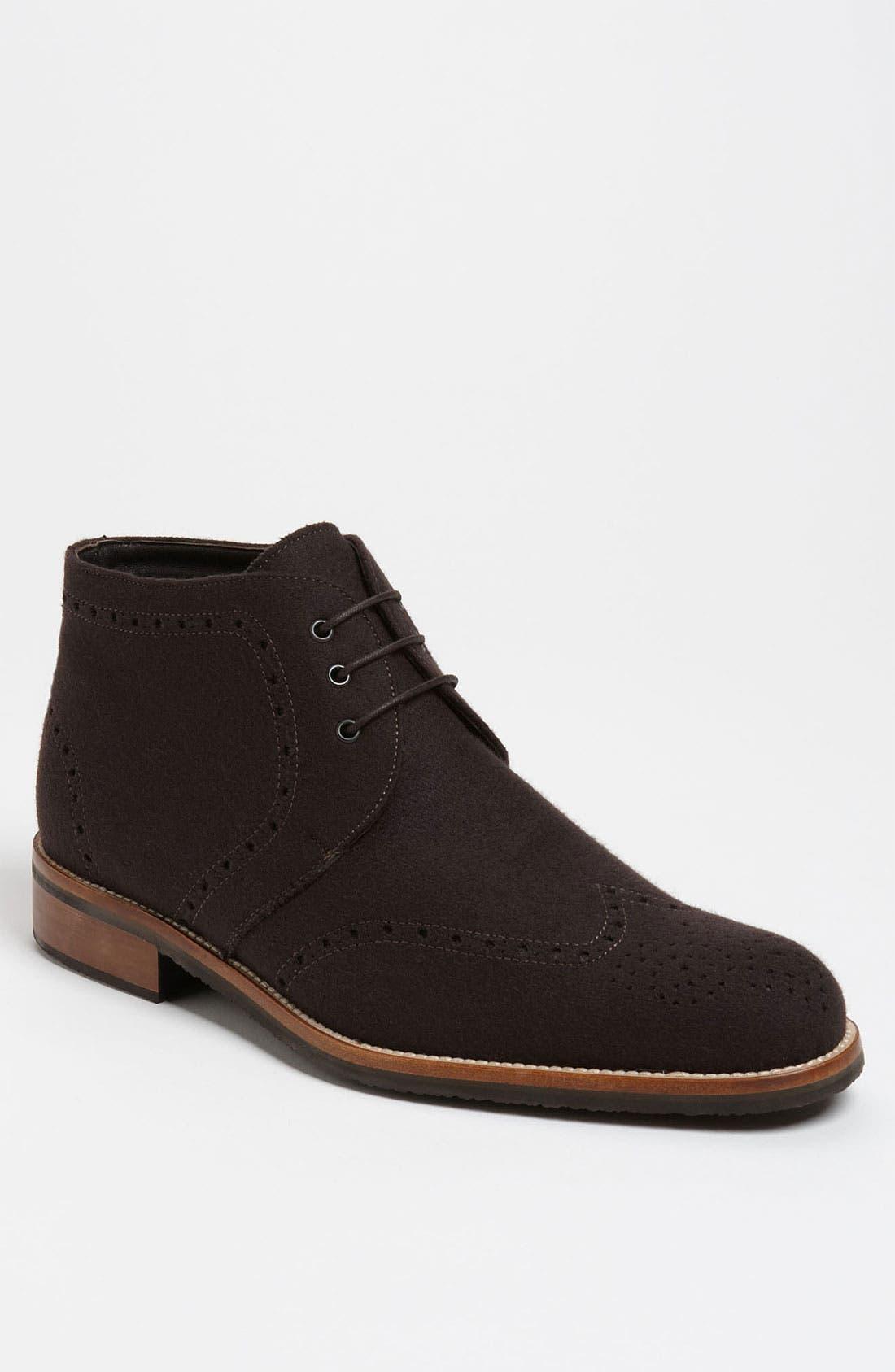 Alternate Image 1 Selected - Thomas Dean Wool Wingtip Chukka Boot