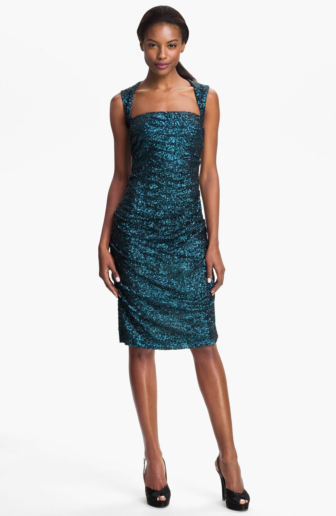 Alternate Image 1 Selected - Nicole Miller Sequin Ruched Sheath Dress