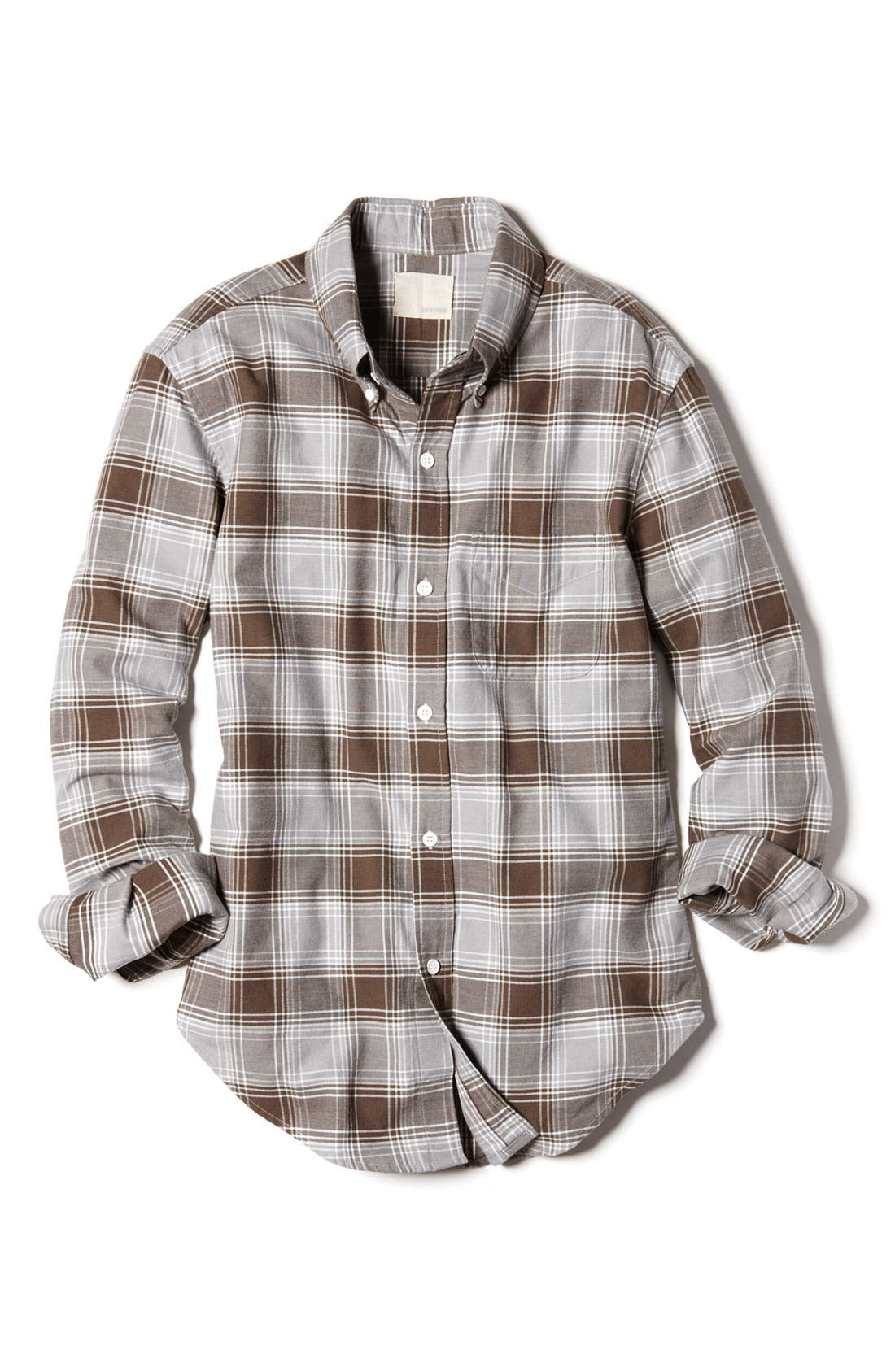 Alternate Image 2  - Band of Outsiders Plaid Oxford Woven Shirt