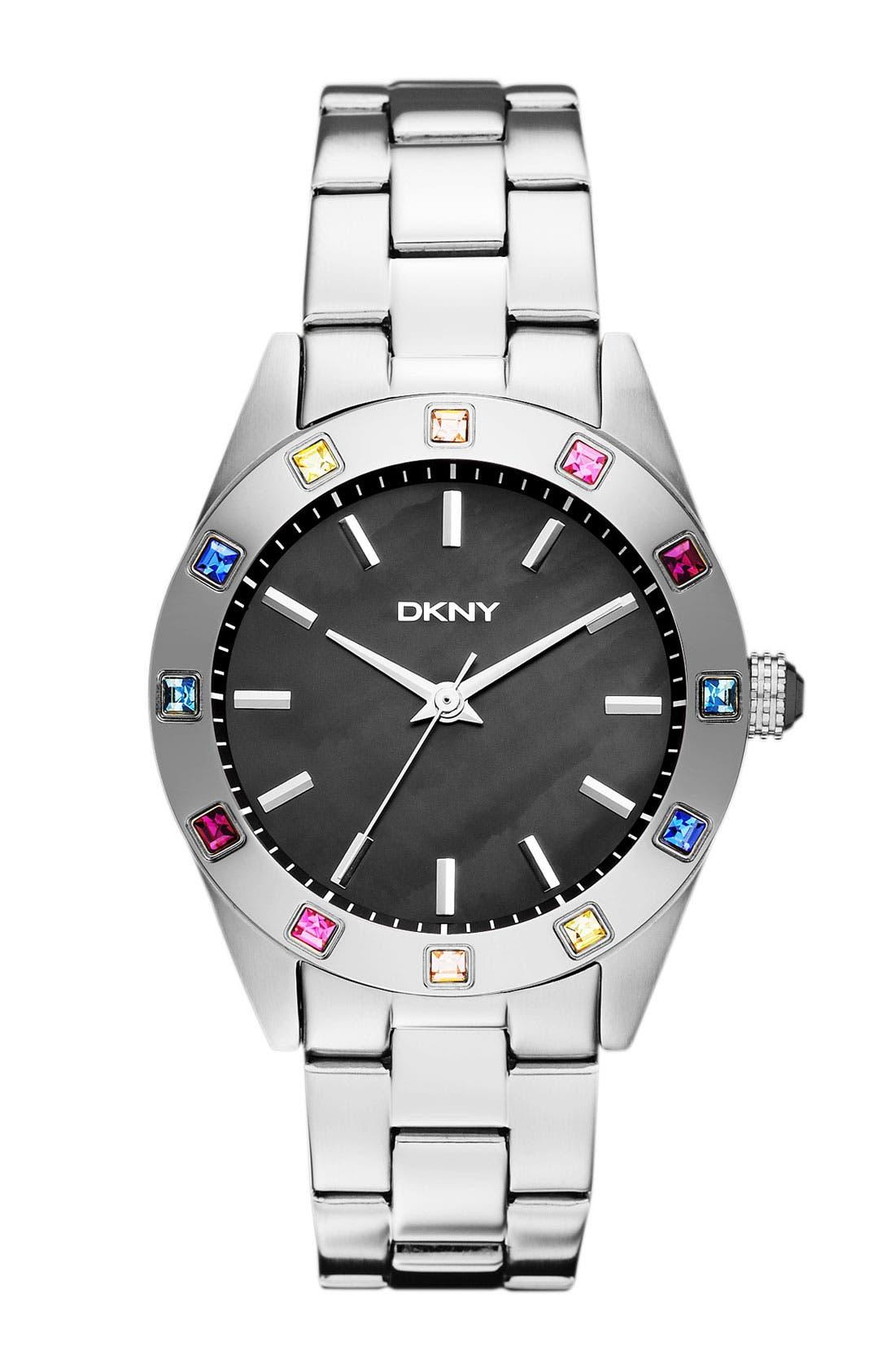 Main Image - DKNY Carousel Crystal Bezel Bracelet Watch