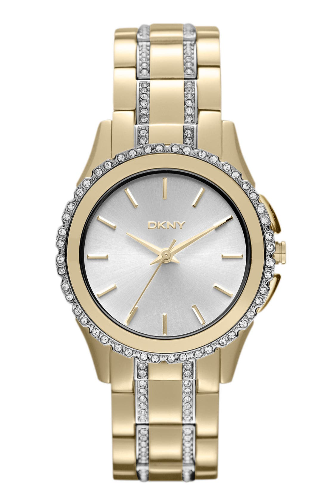 Main Image - DKNY Crystal Detail Bracelet Watch, 33mm