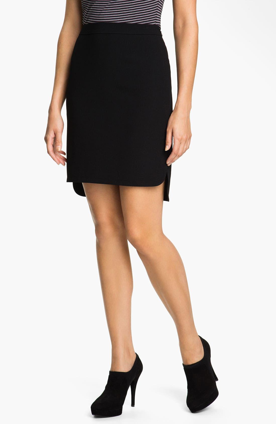 Main Image - Halogen® High Low Skirt (Petite)
