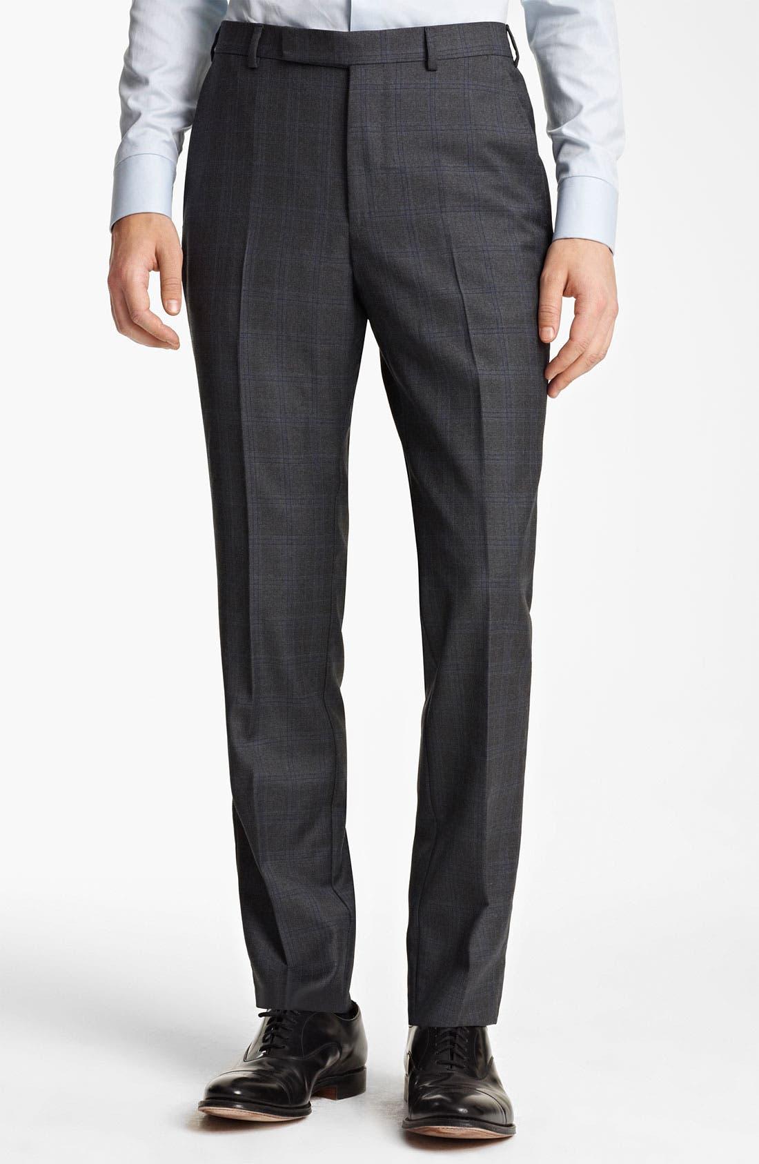 Alternate Image 4  - Z Zegna Trim Fit Check Wool Suit