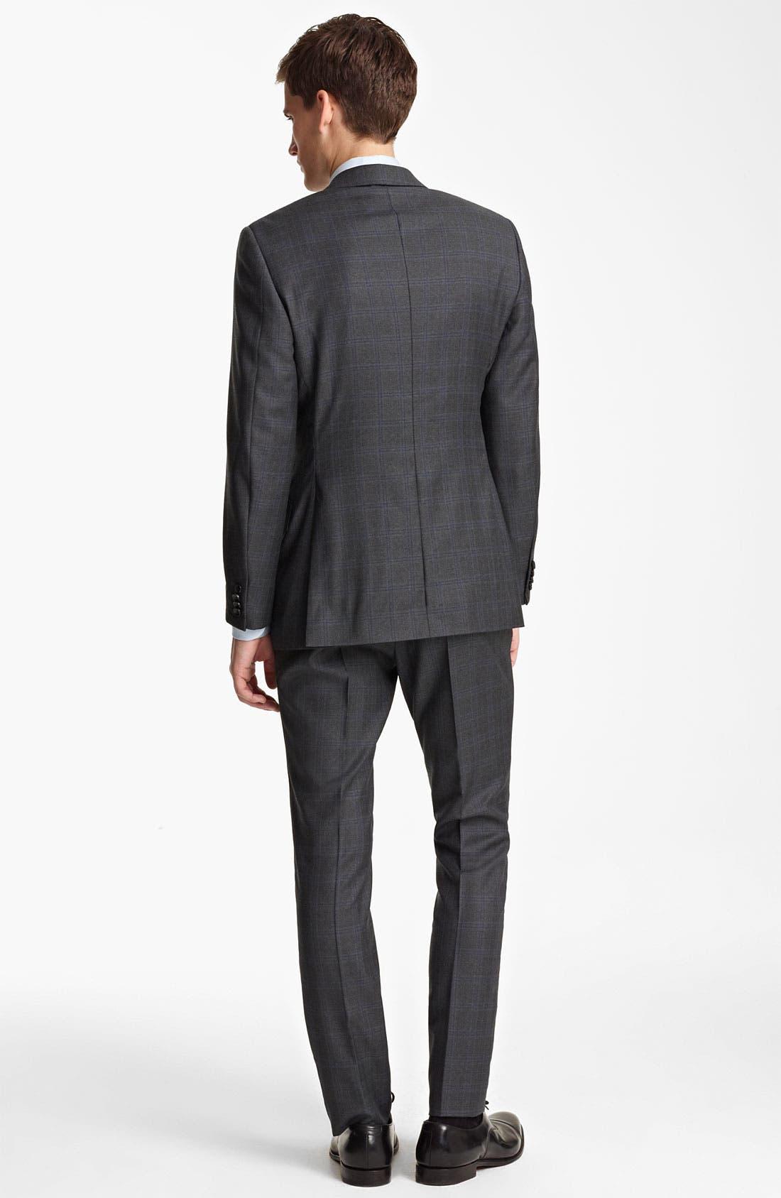 Alternate Image 3  - Z Zegna Trim Fit Check Wool Suit