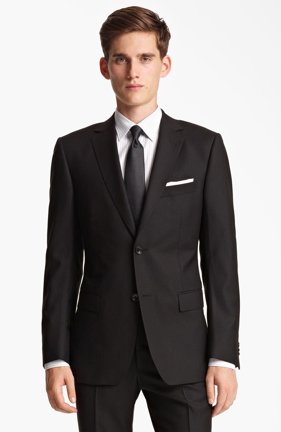 Alternate Image 1 Selected - Z Zegna Trim Fit Herringbone Suit