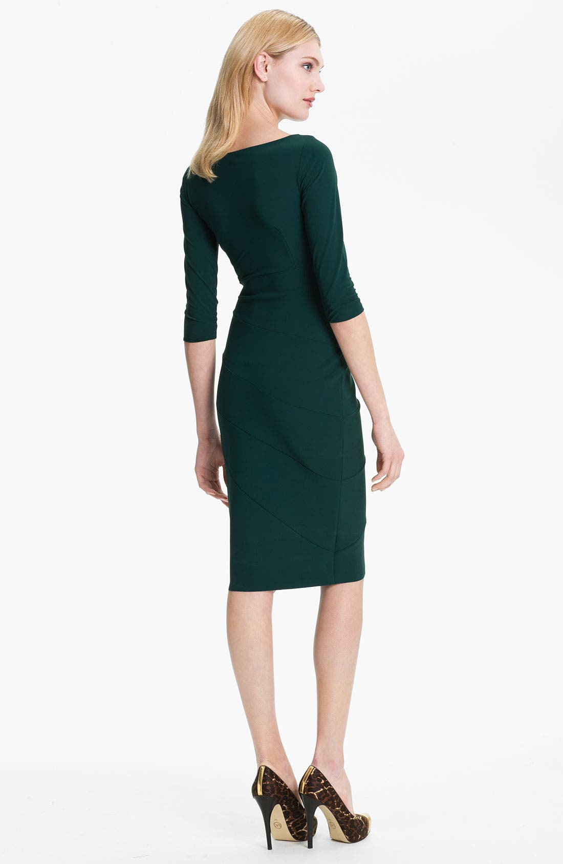 Alternate Image 2  - La Petite Robe by Chiara Boni V-Neck Seam Detail Sheath Dress