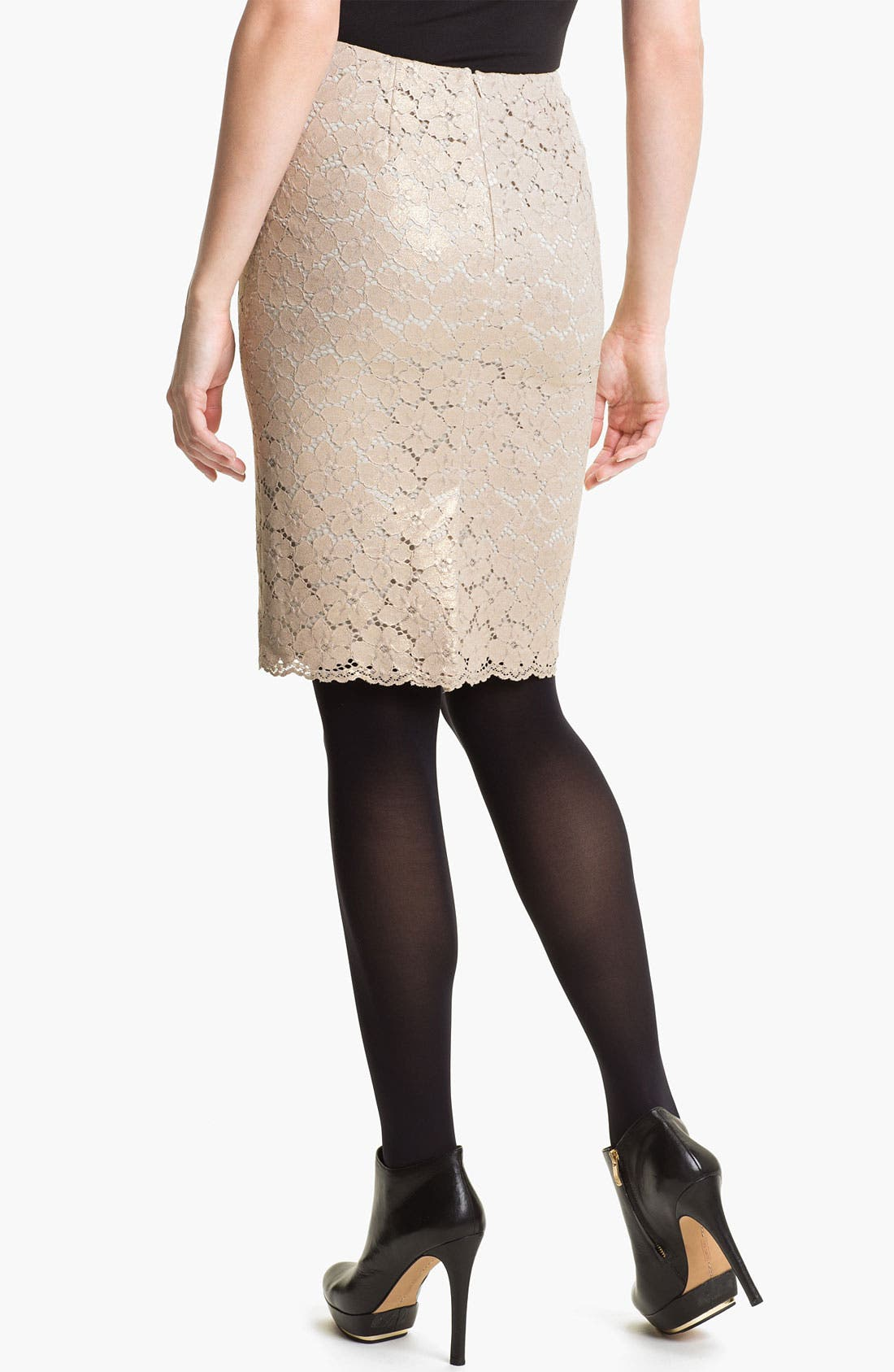 Alternate Image 2  - Vince Camuto Lace Pencil Skirt