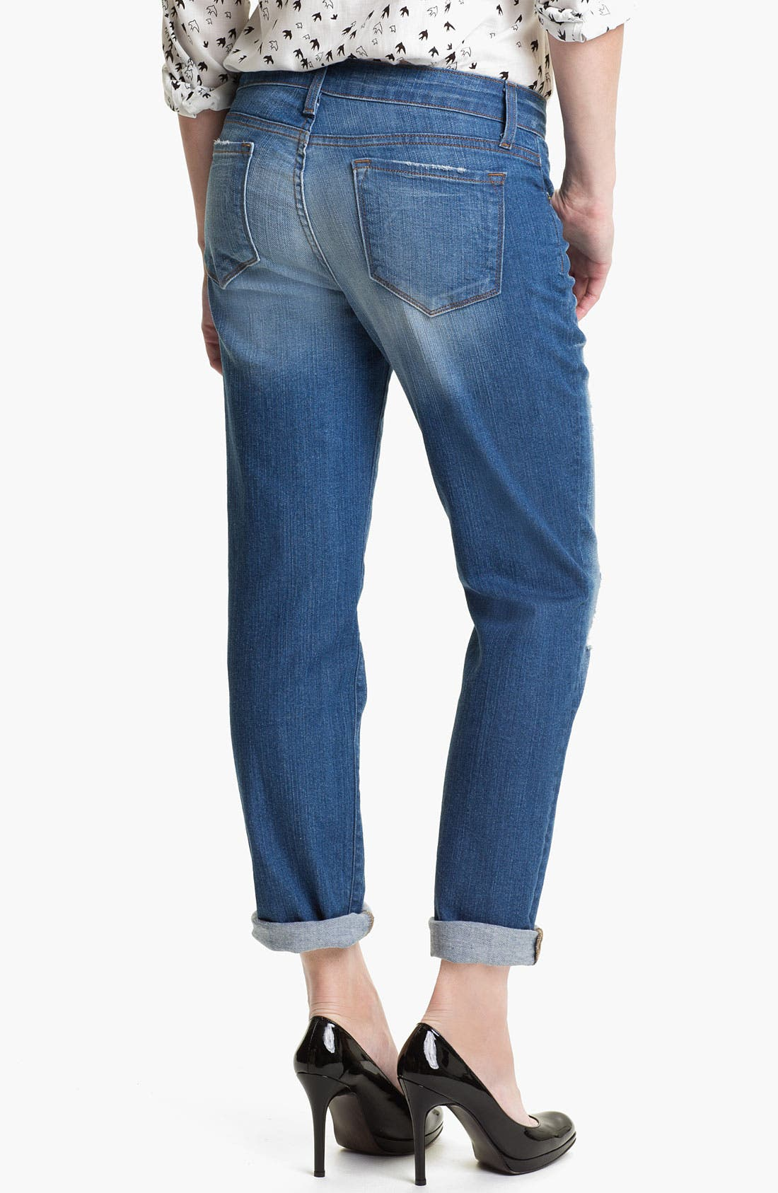 Alternate Image 2  - Blue Essence Boyfriend Jeans (Worn Destroyed) (Nordstrom Exclusive)