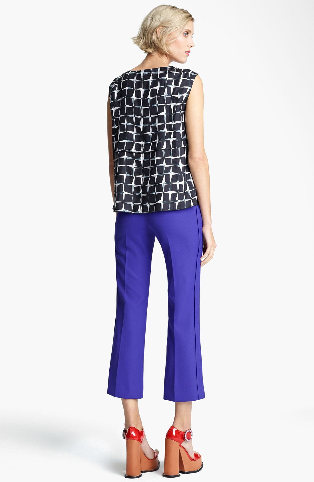 Alternate Image 3  - MARC JACOBS Diamond Print Silk Twill Top