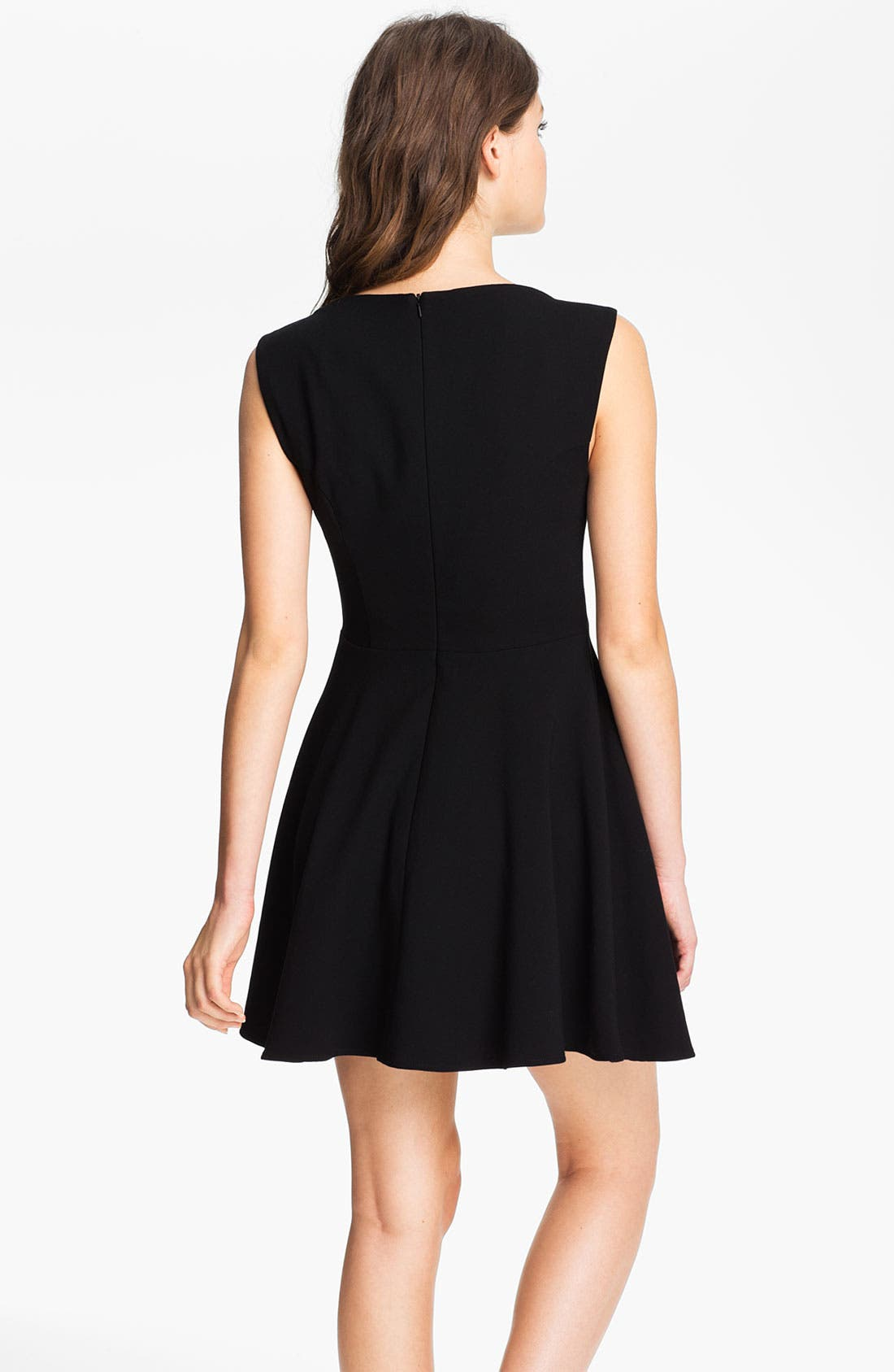 Alternate Image 2  - French Connection Extended Sleeve Ponte Fit & Flare Dress