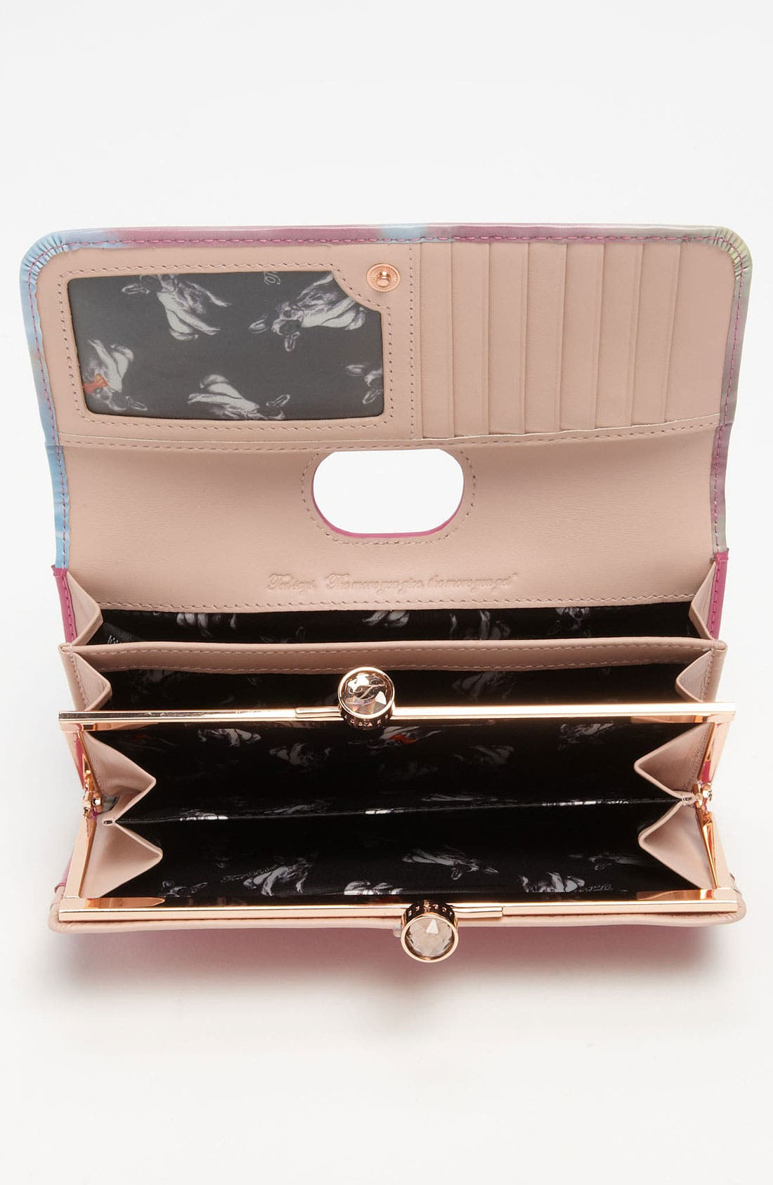Alternate Image 3  - Ted Baker London 'Moody Sunset - Crystal Bobble' Matinee Wallet