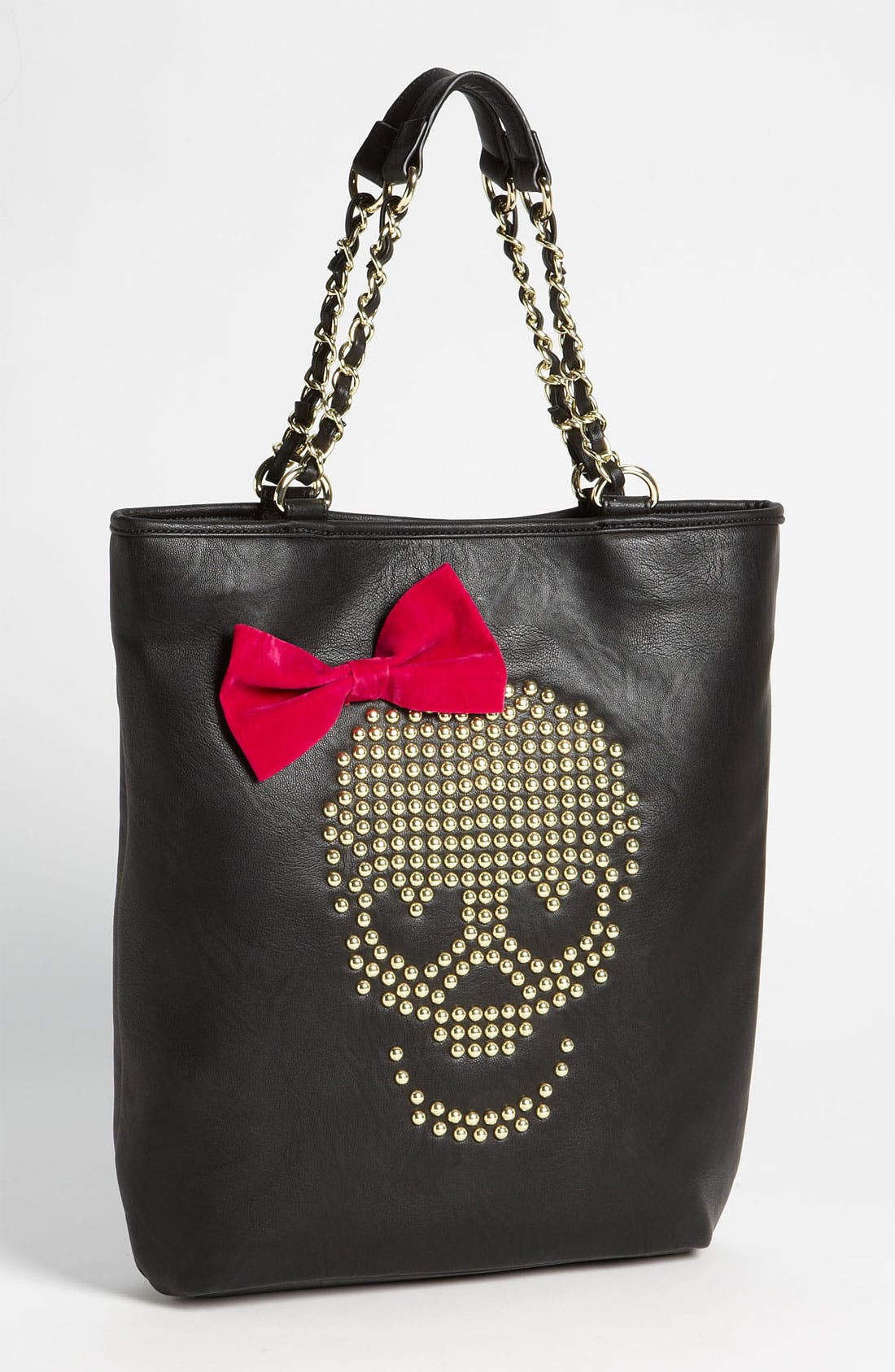 Alternate Image 1 Selected - Betsey Johnson 'Skull Stud' Tote