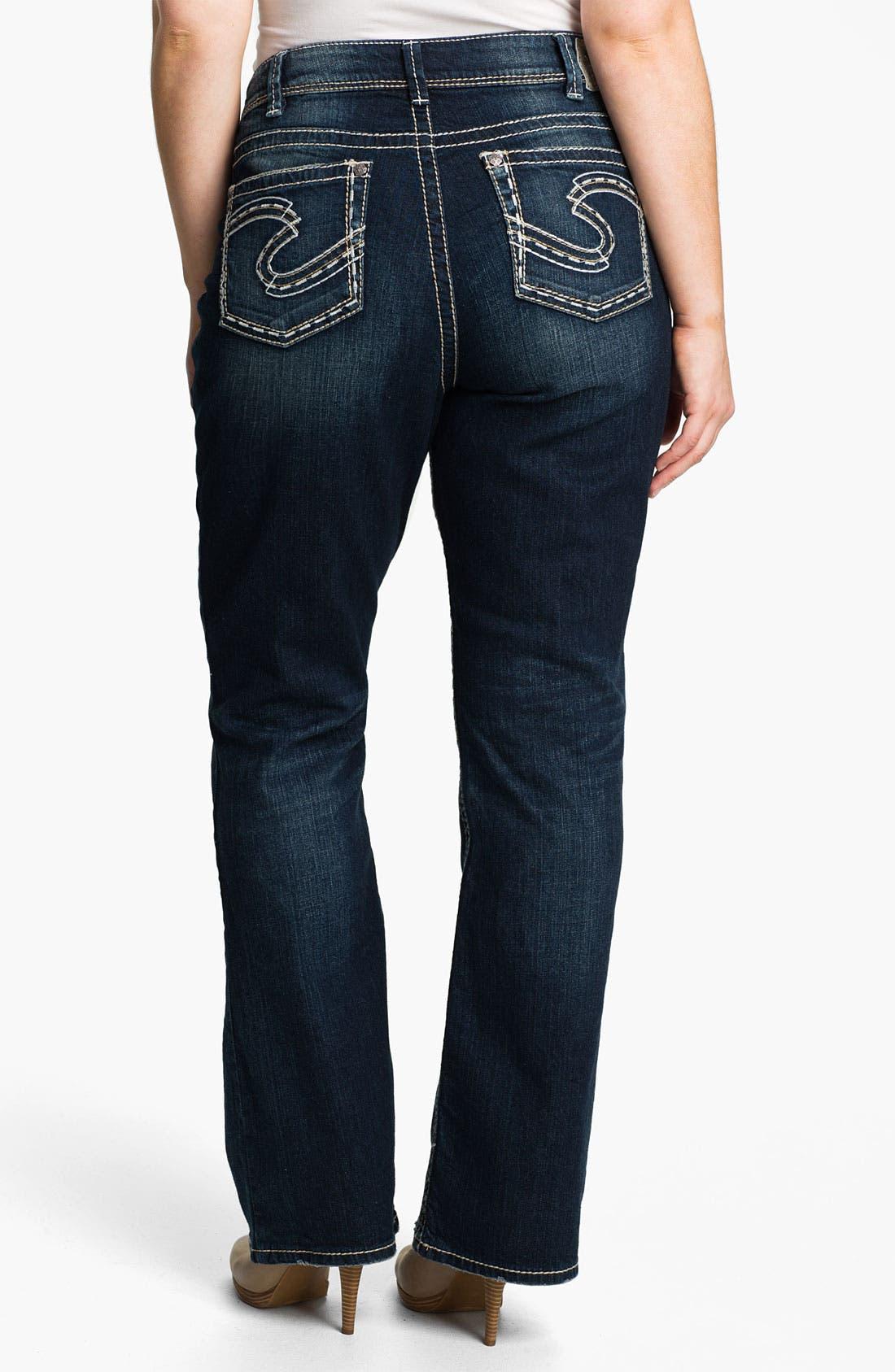 Alternate Image 2  - Silver Jeans Co. 'Suki' Bootcut Jeans (Plus)