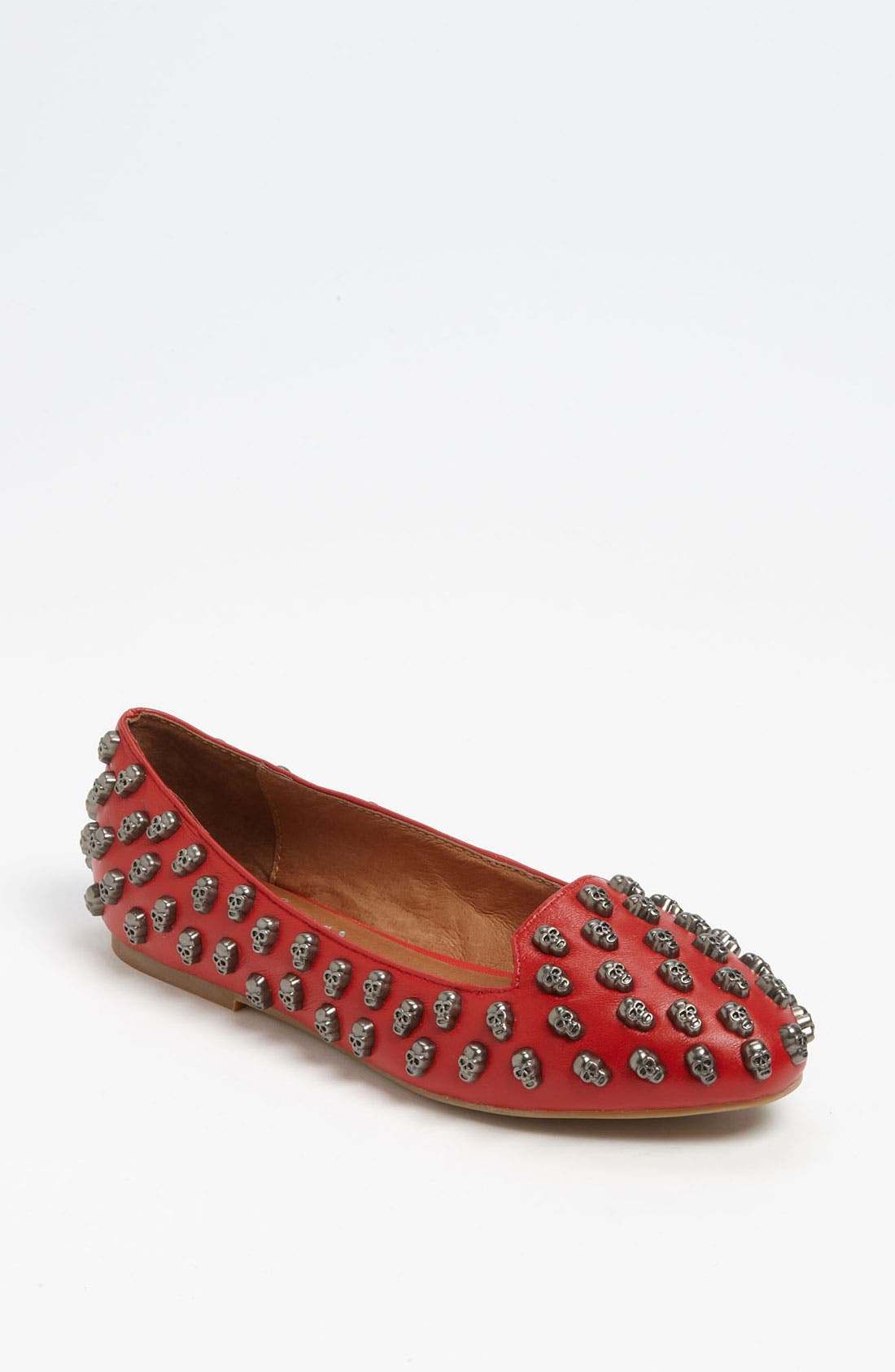 'Skulltini' Flat,                         Main,                         color, Red/ Pewter