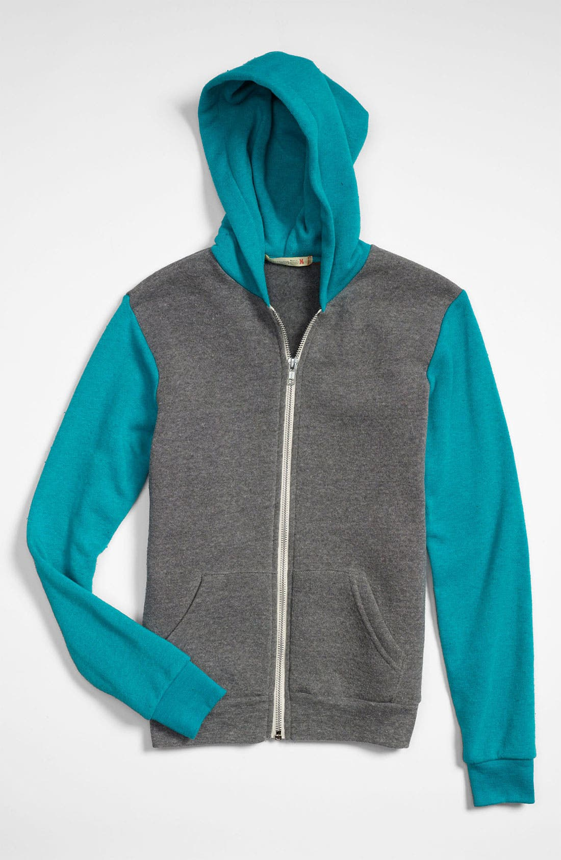 Main Image - Alternative 'Jamie' Color Block Hoodie (Big Girls)