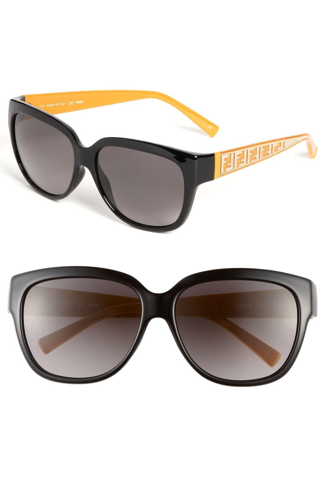 Alternate Image 1 Selected - Fendi 'Zucca' 57mm Sunglasses