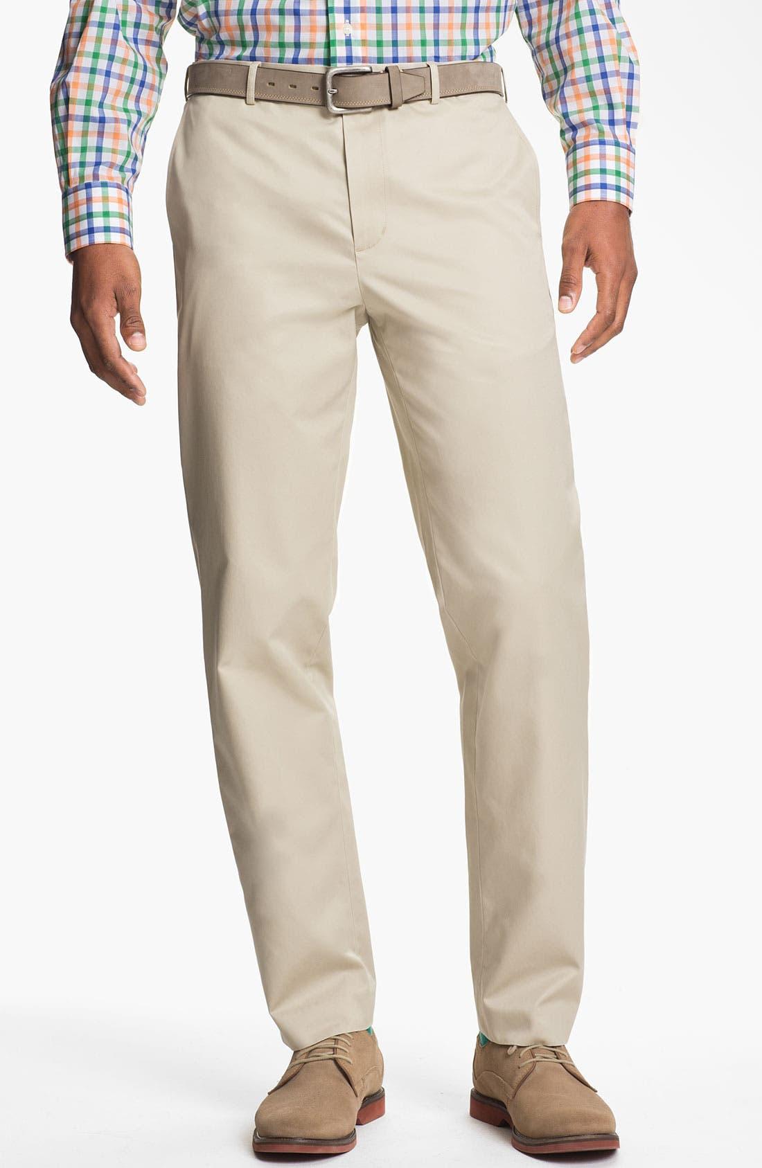 Main Image - Calibrate Flat Front Non-Iron Supima® Cotton Pants